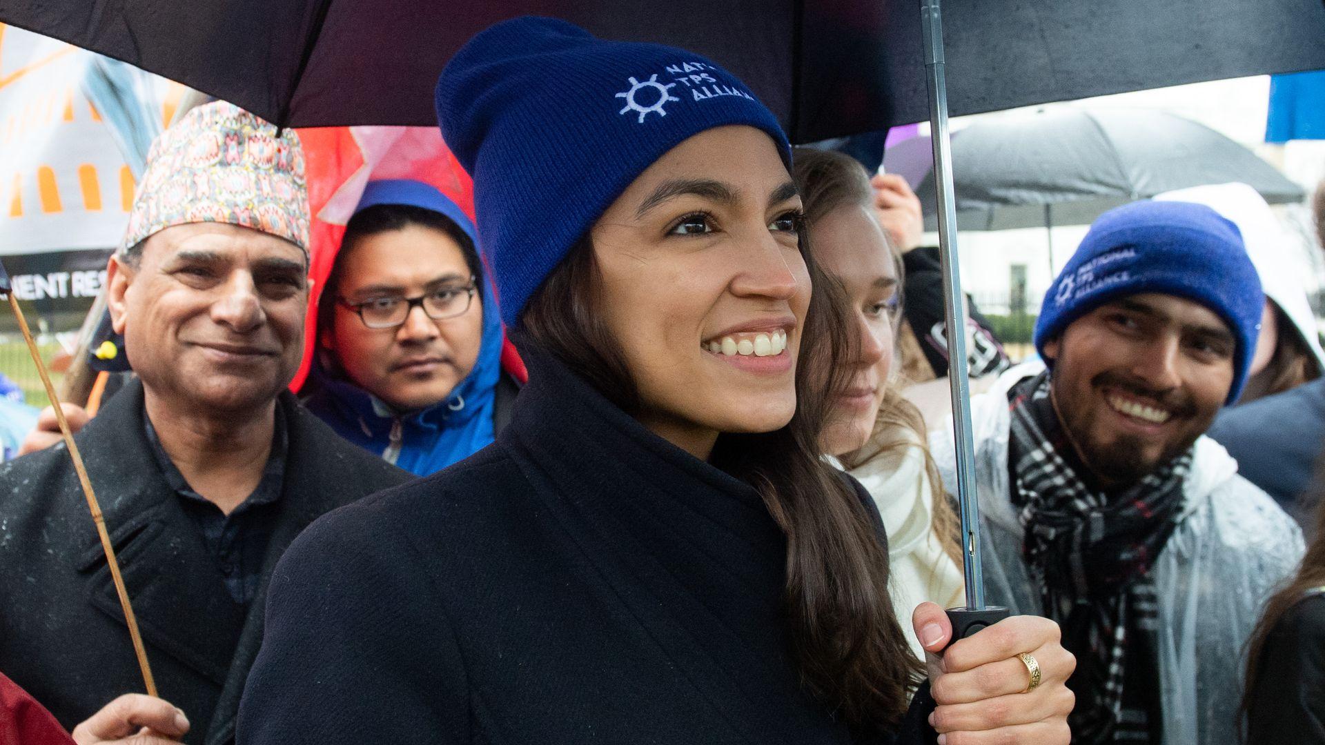Alexandria ocasio cortez at march tps