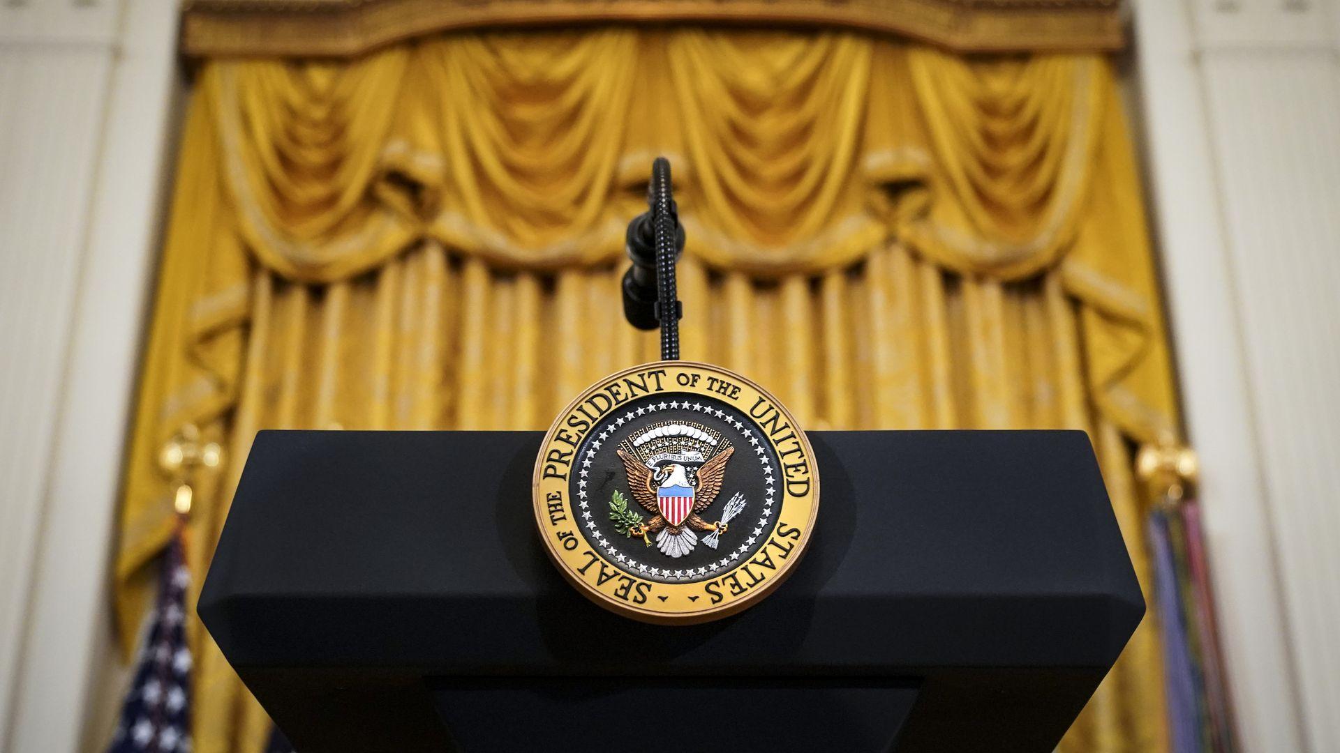The president's podium