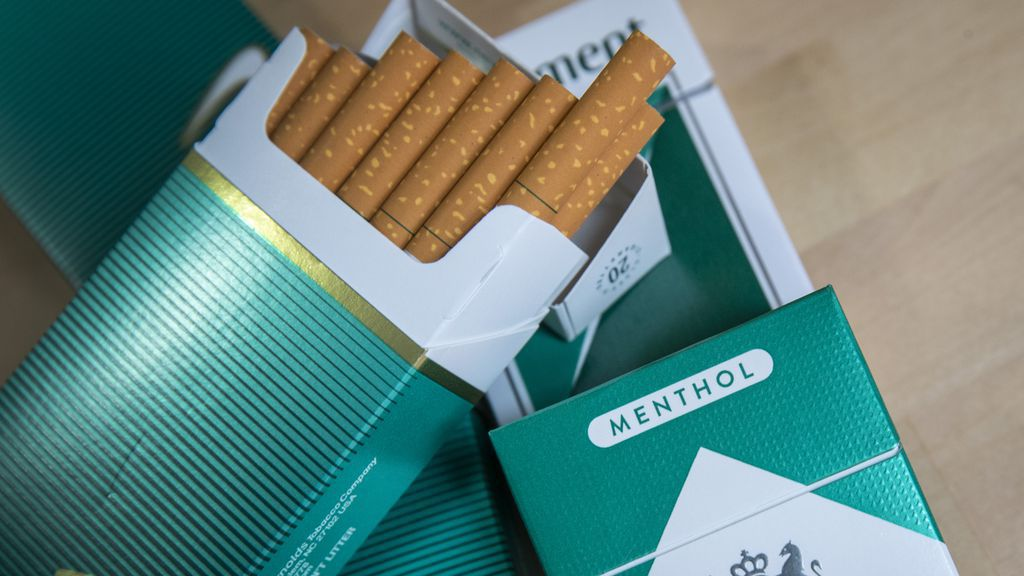 Pack of menthol-flavored cigarettes
