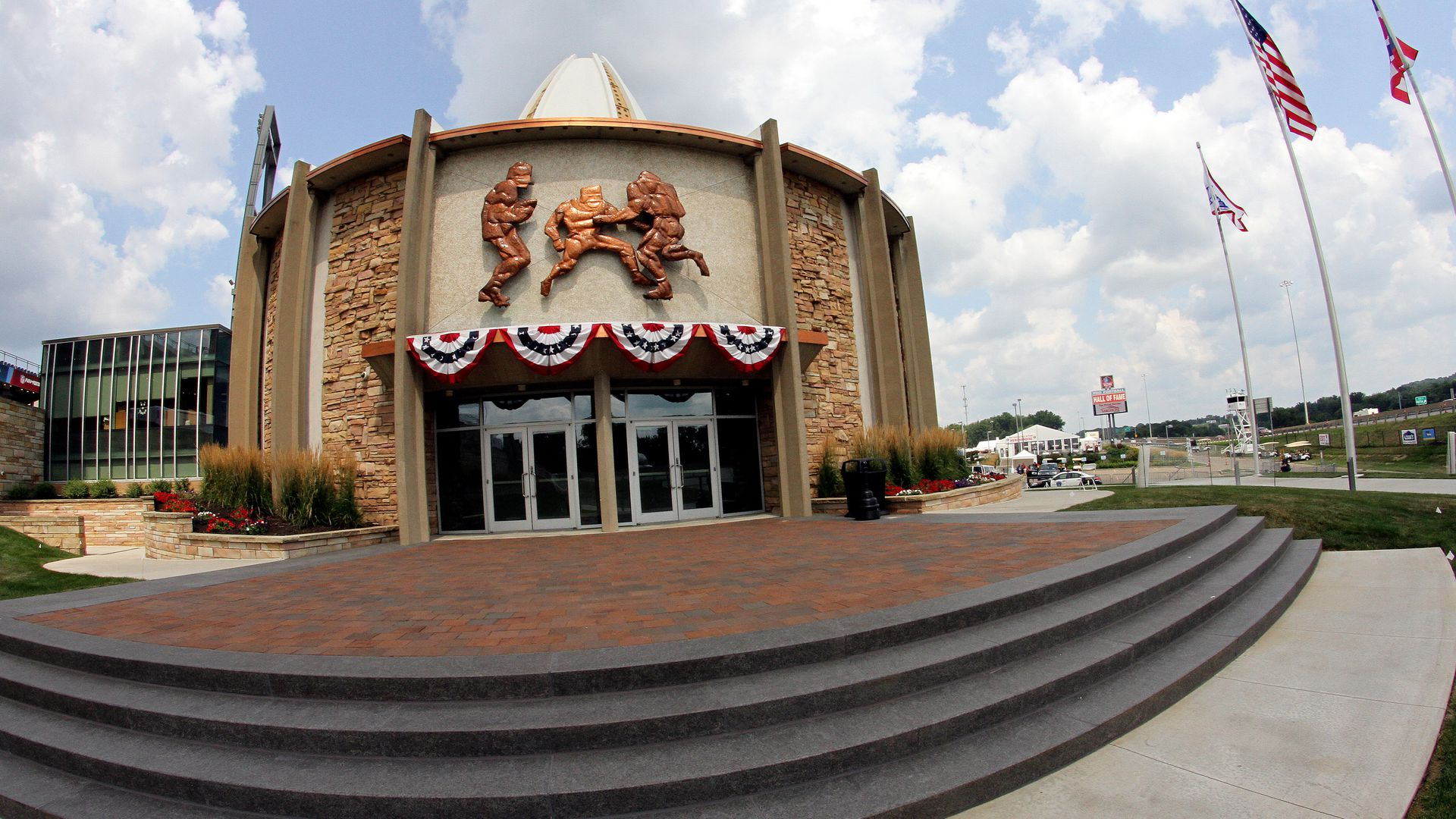 A general view of the Pro Football Hall of Fame Museum on August 04, 2018, at Tom Benson Hall Of Fame Stadium in Canton, Ohio. (Photo by Daniel Kucin Jr./Icon Sportswire via Getty Images)