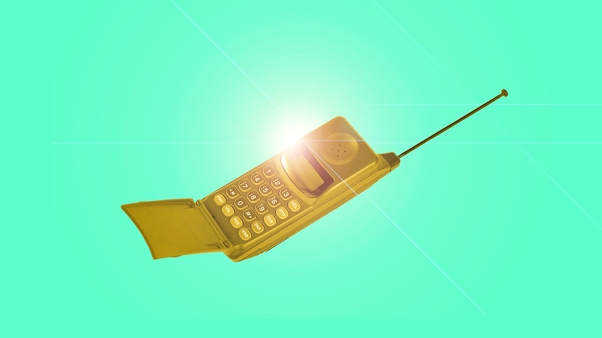 An old-school cell phone made out of gold