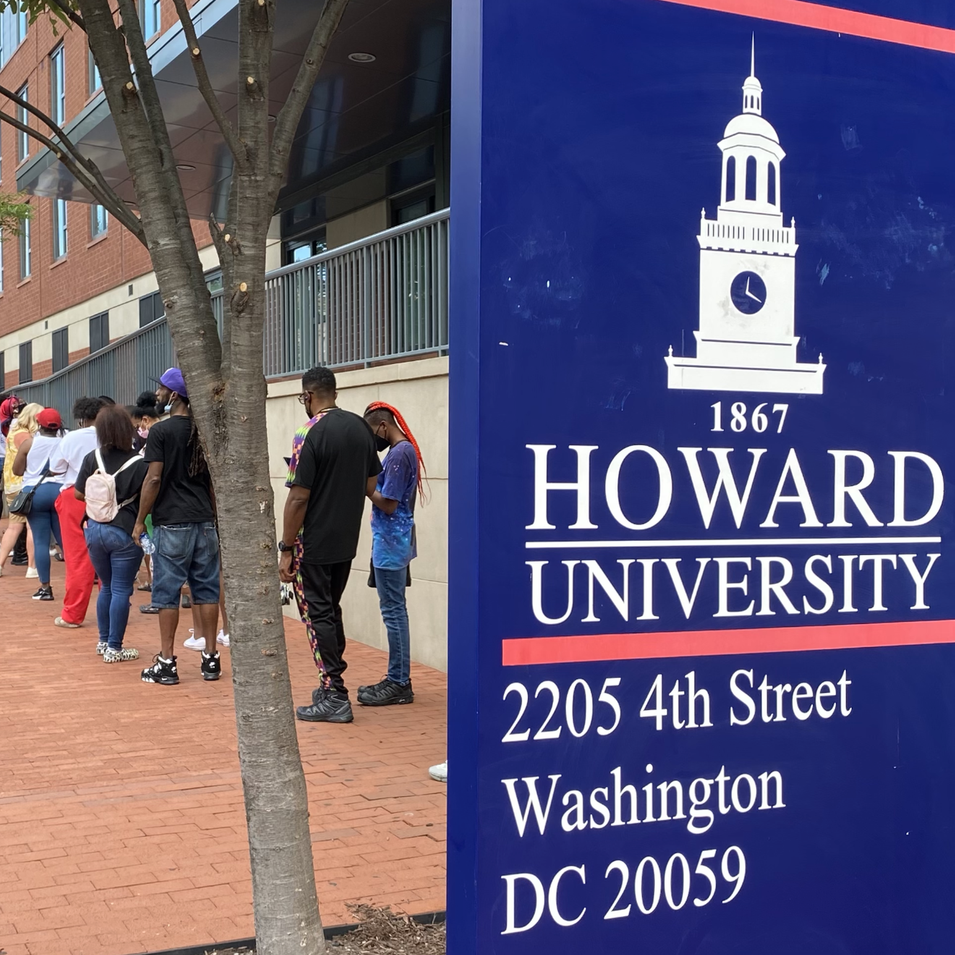 Howard University freshman move-in at the start of the 2021-22 school year.
