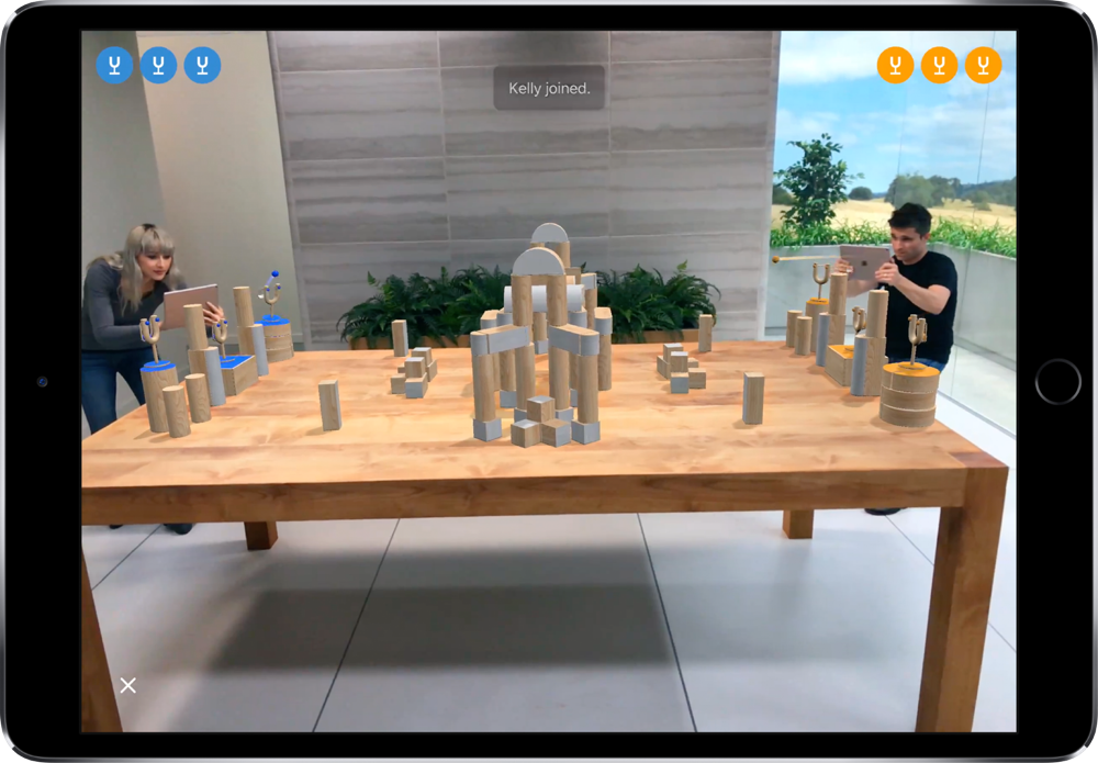 An example of augmented reality using Apple's ARKit