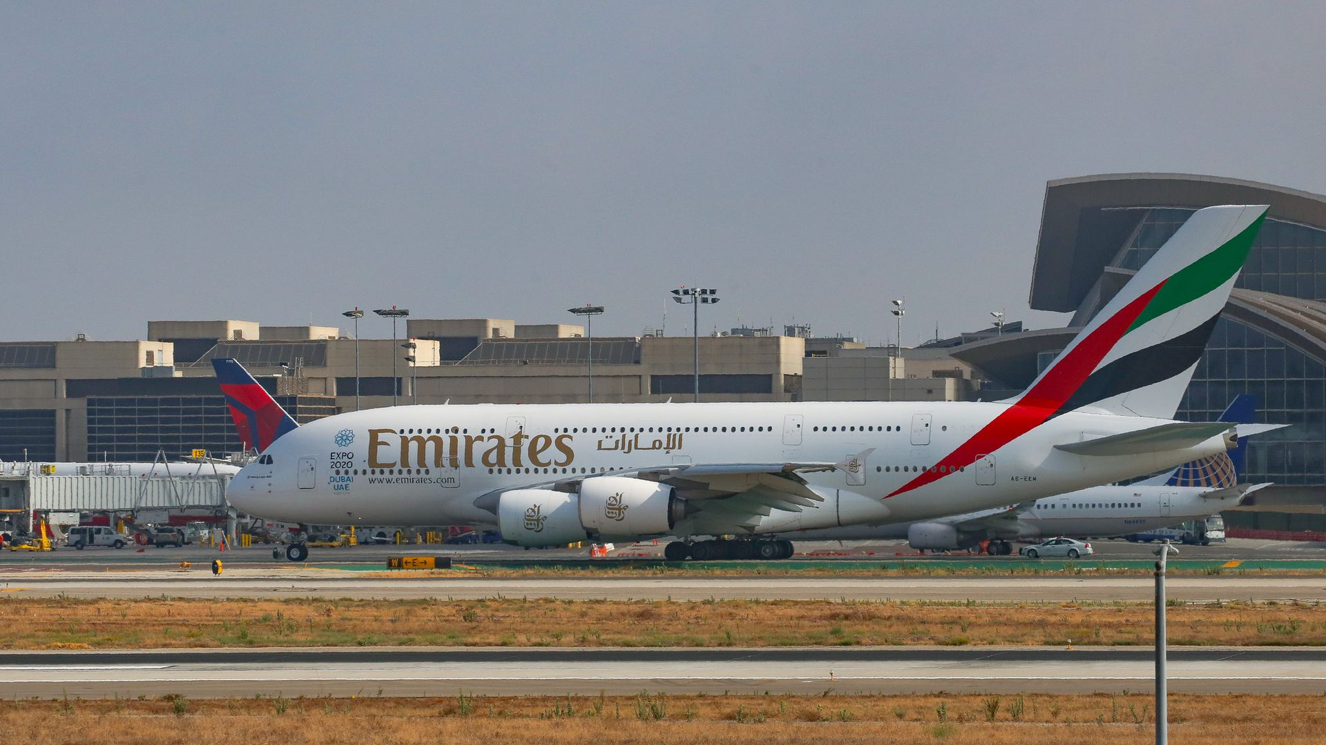Emirates aircraft.