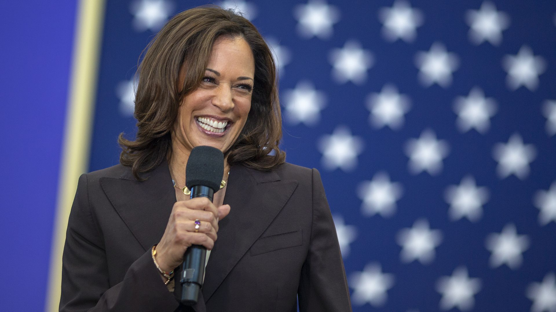 Kamala Harris smiling