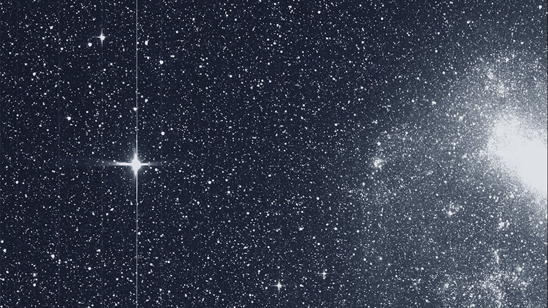 "NASA's TESS spacecraft captured this swath of the southern sky in its ""first light"" science image on August 7, 2018."