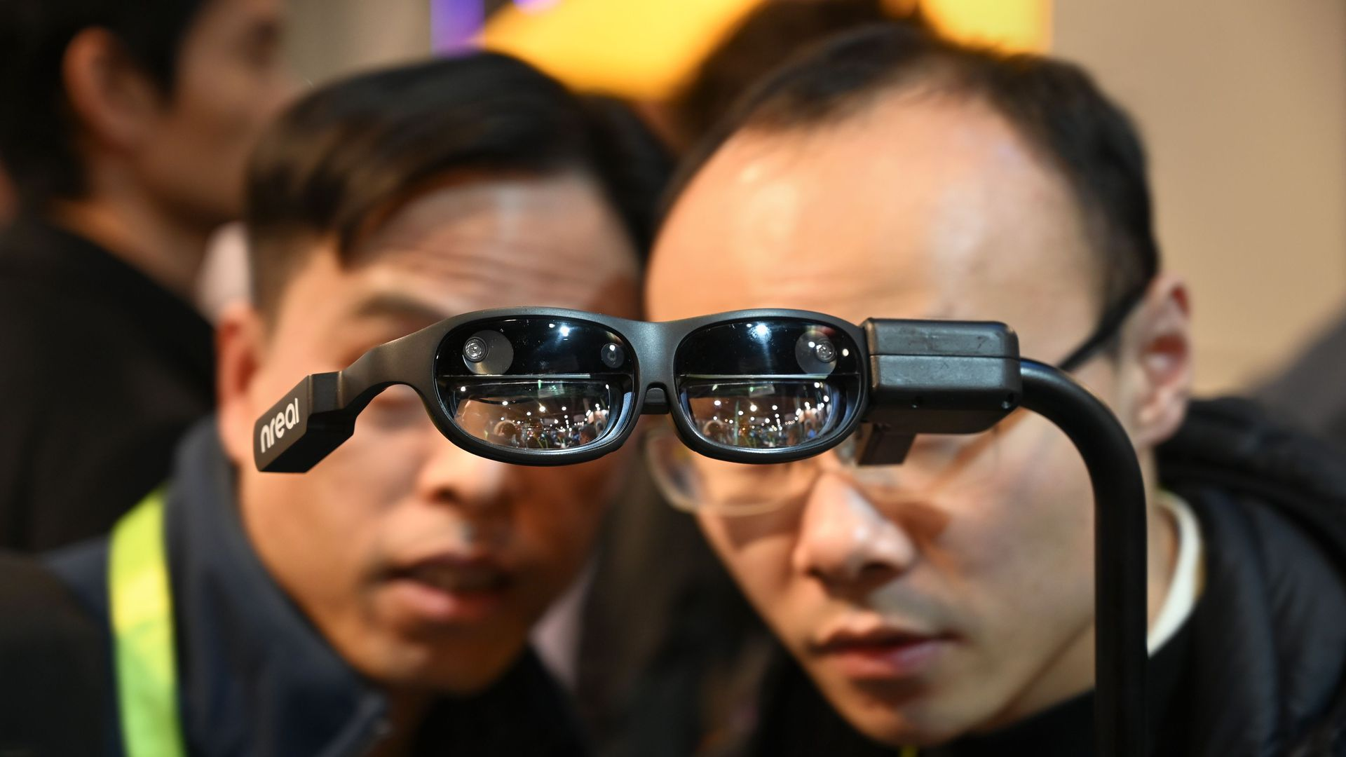 NReal augmented reality (AR) glasses, on the last day of CES 2019,