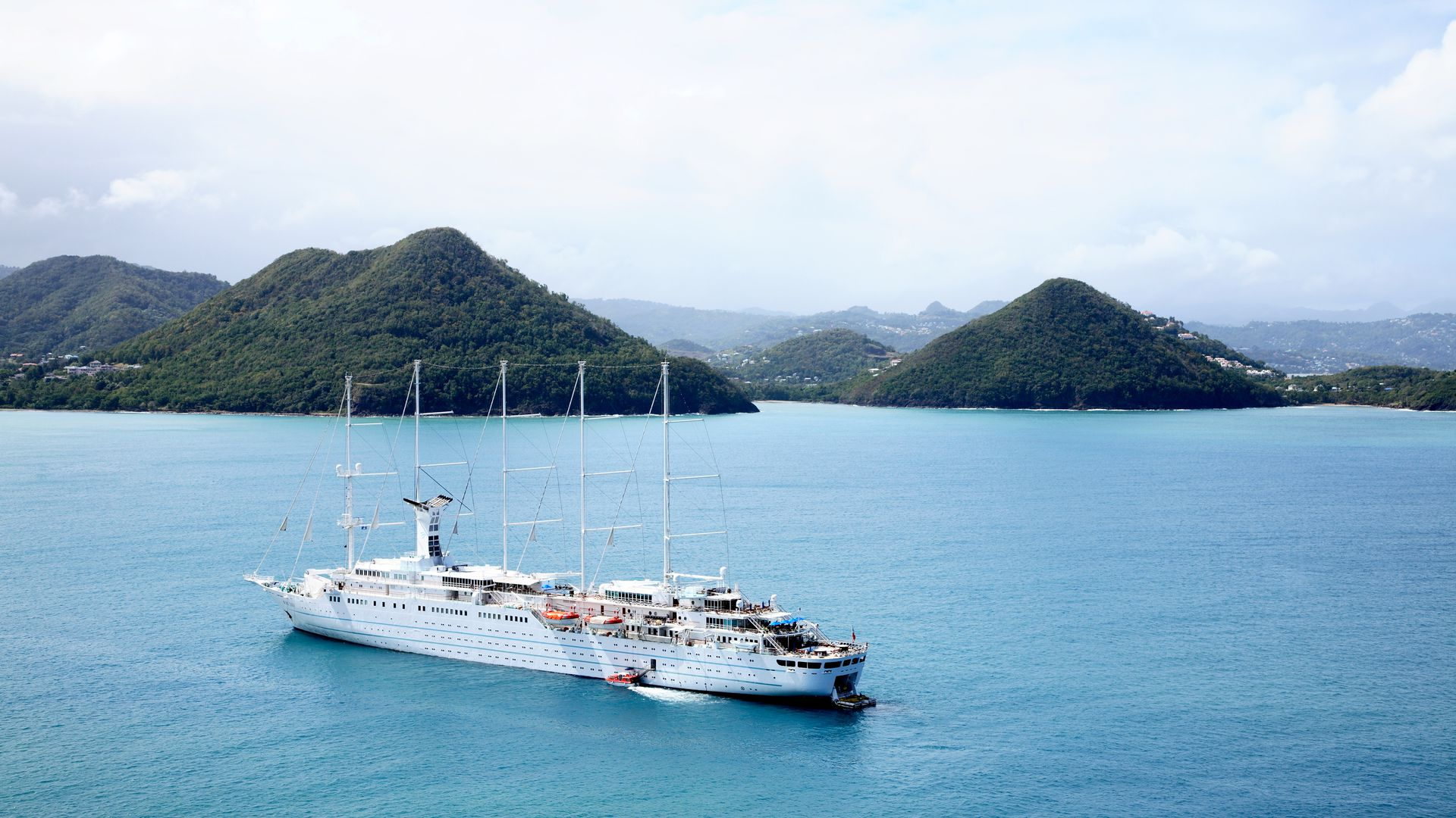 A cruise ship in St. Lucia