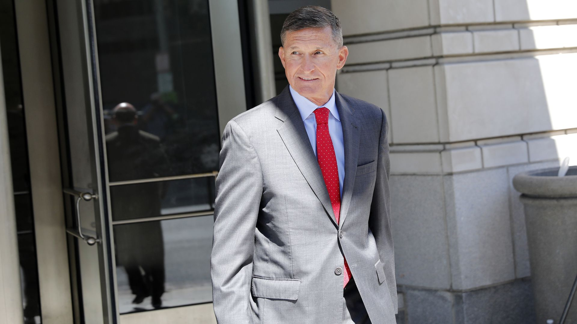 Michael Flynn leaves the courthouse