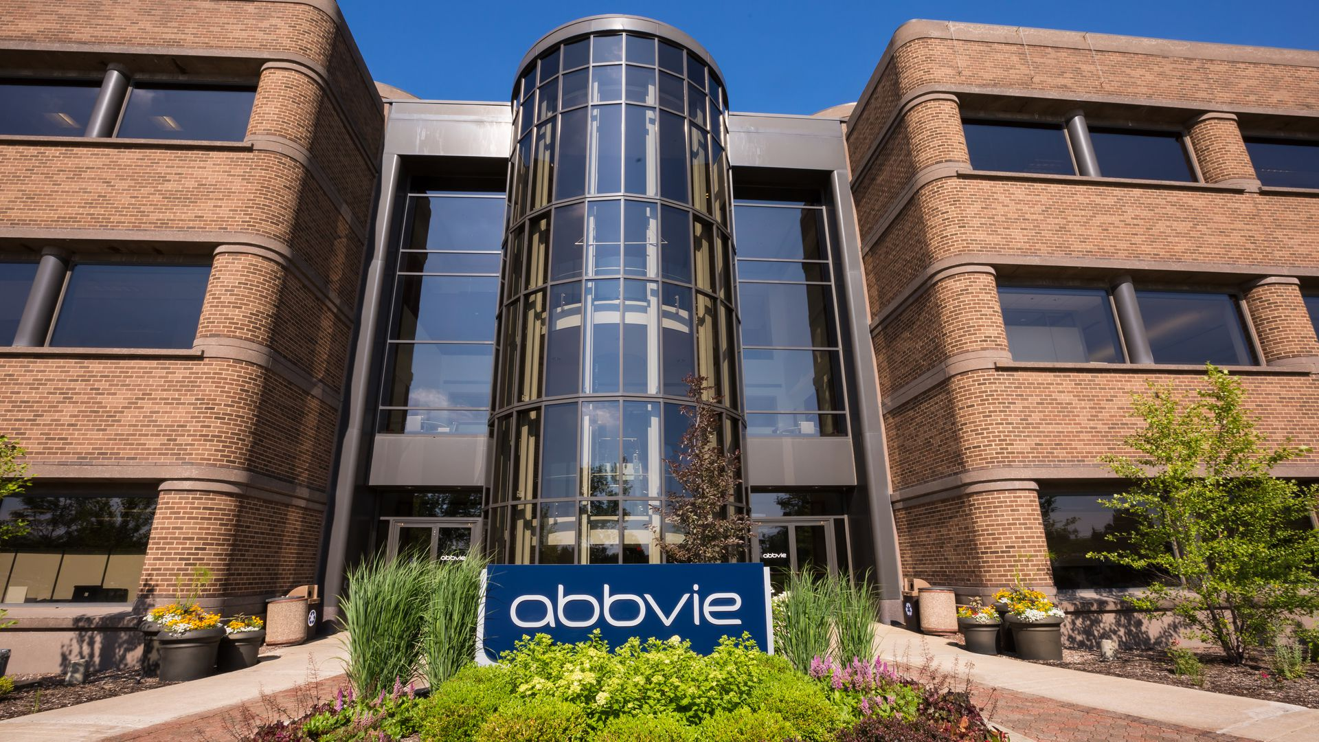 AbbVie headquarters building in Illinois.