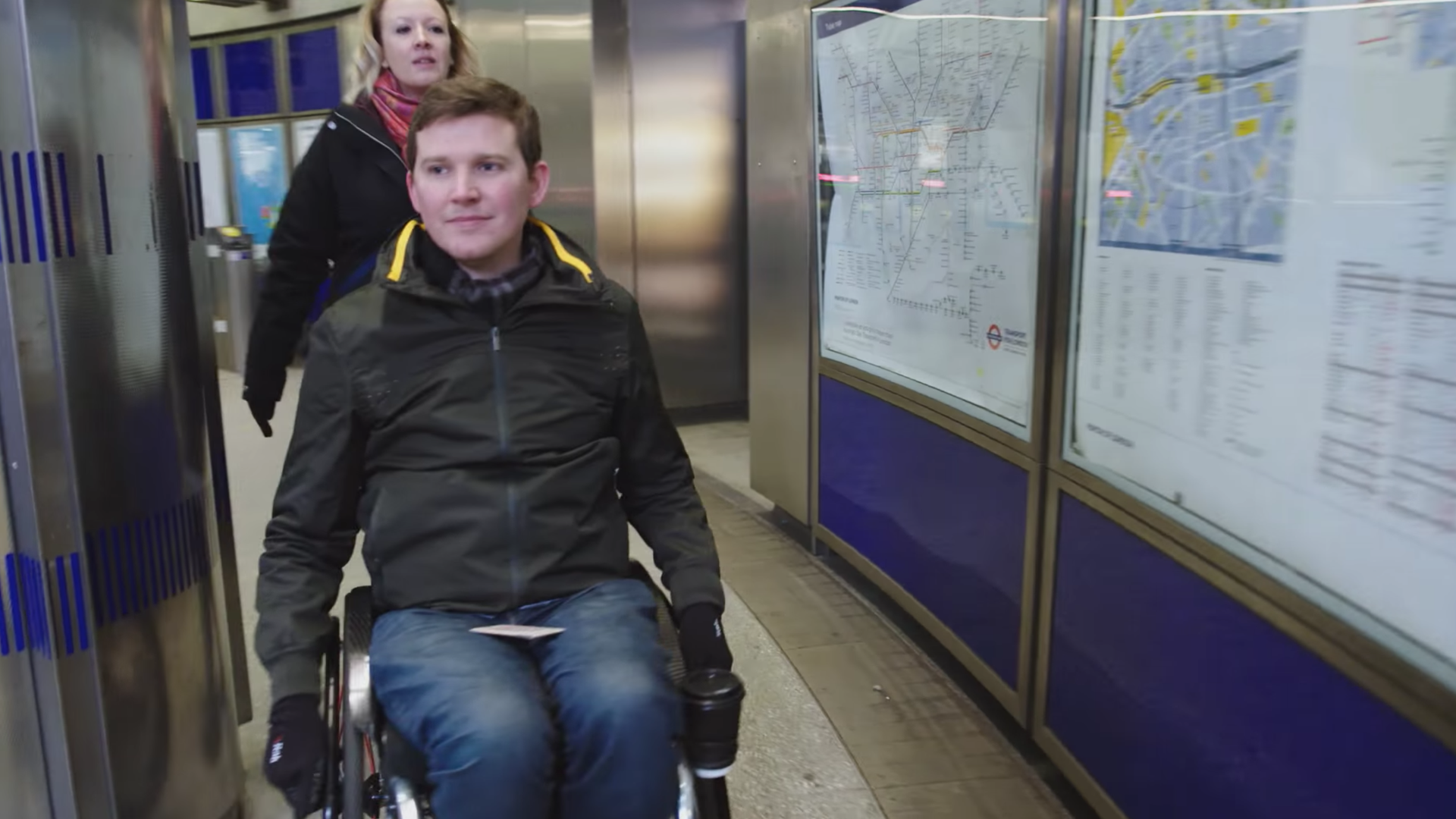 a screenshot from a video on how Google is making its maps more useful for those with disabilities