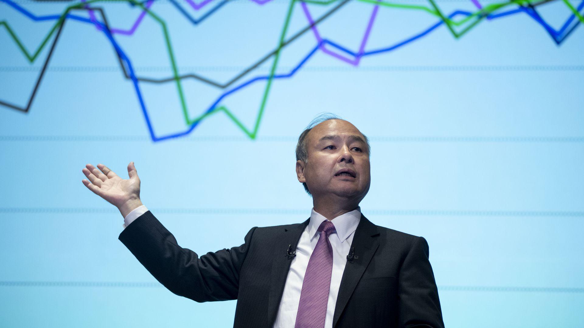 SoftBank's Chairman and Chief Executive Officer Masayoshi Son