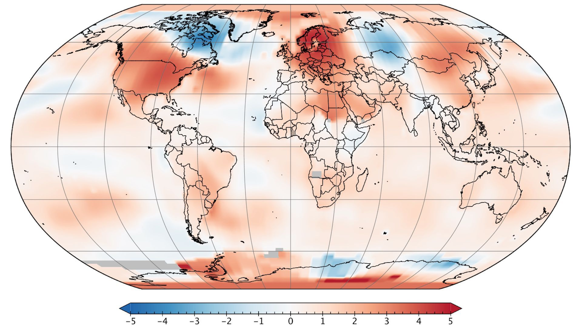 Map of global temperatures in May