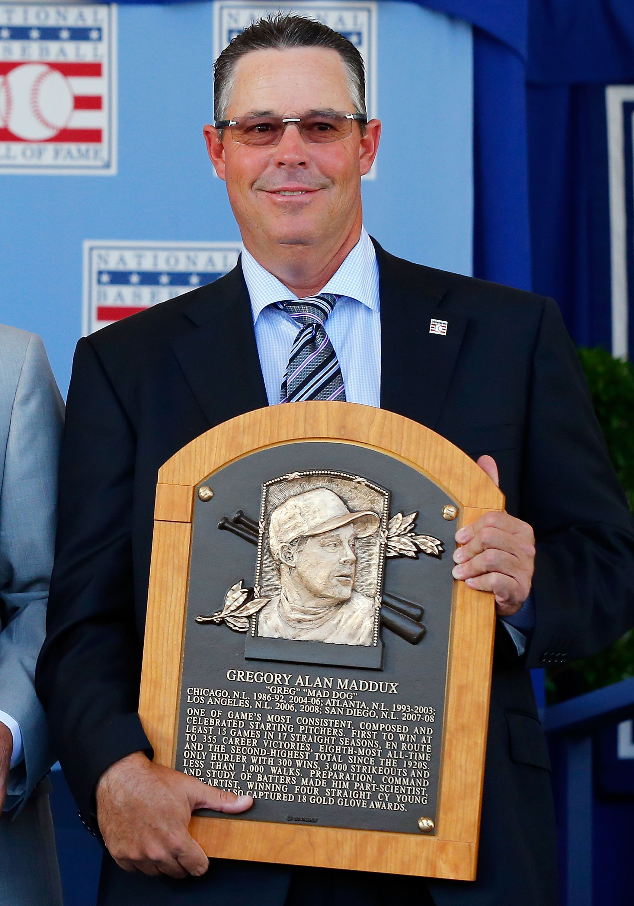 Greg Maddux at his HOF induction ceremony