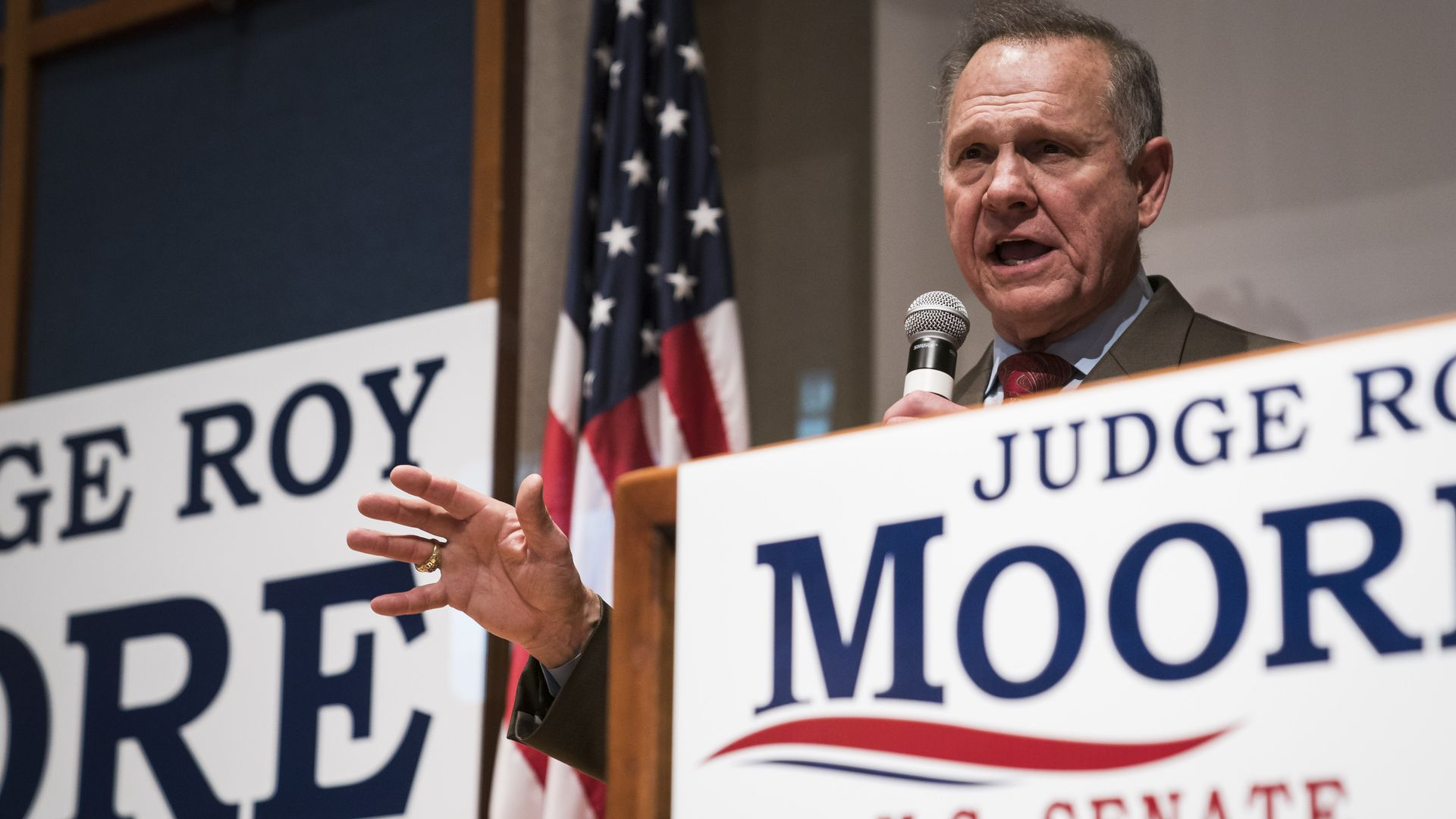 Roy Moore campaigning for senate
