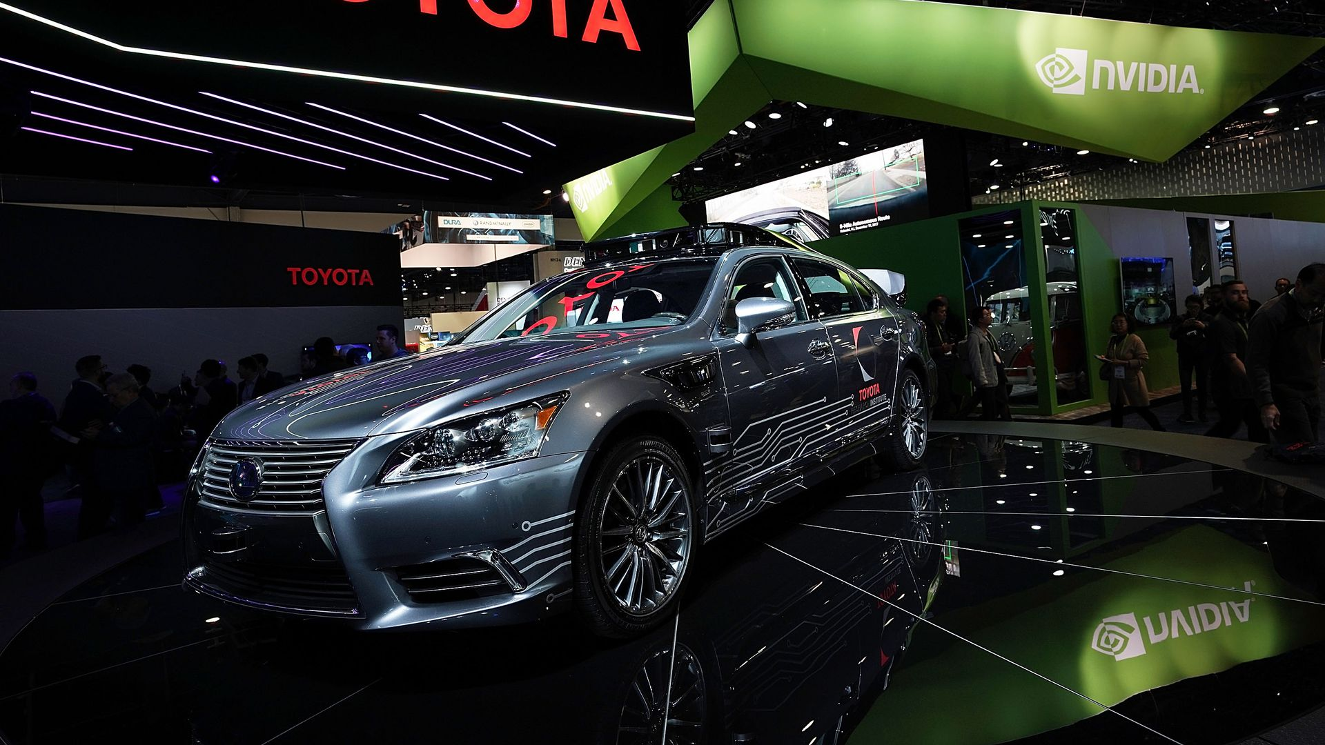 An autonomous vehicle concept from Toyota, on display at CES 2018.