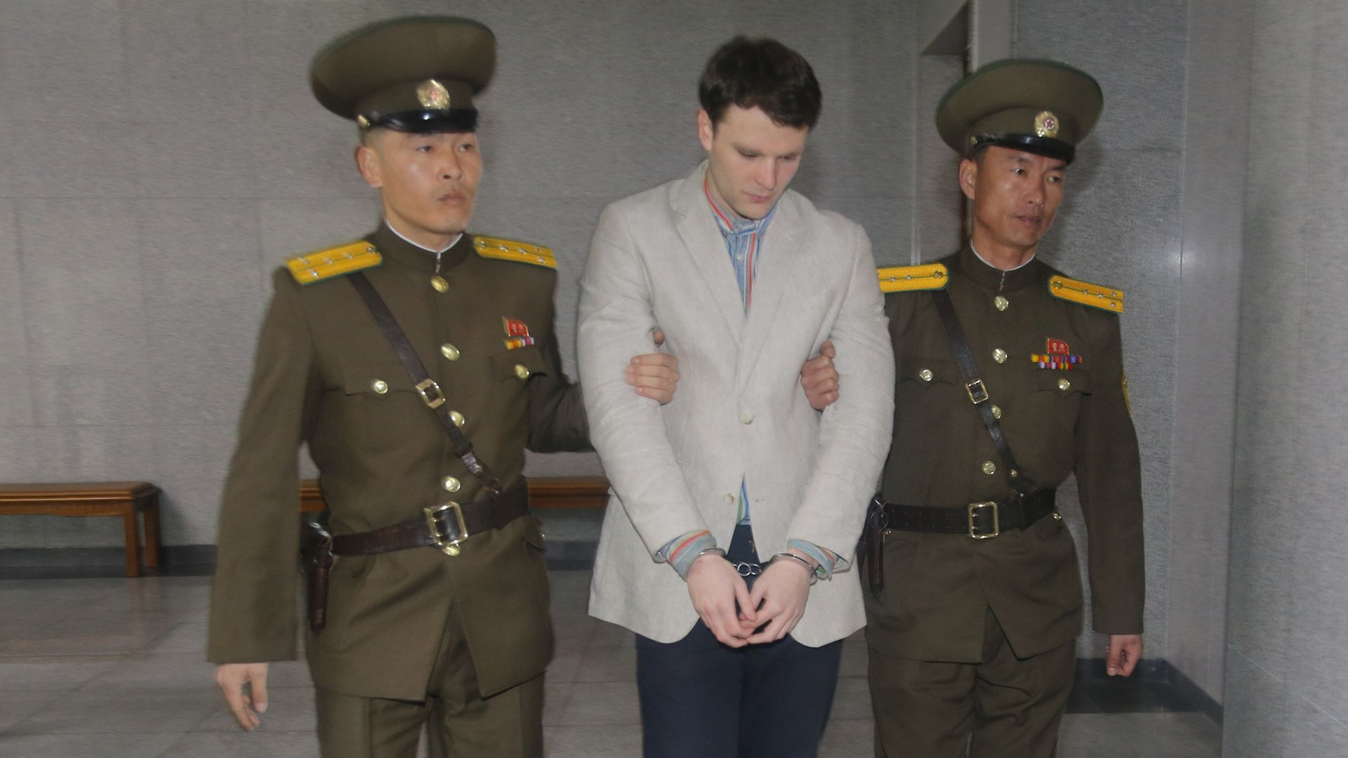 President Trump says North Korea's leader Kim Jong-un only learned about Otto Warmbier's death after the event.