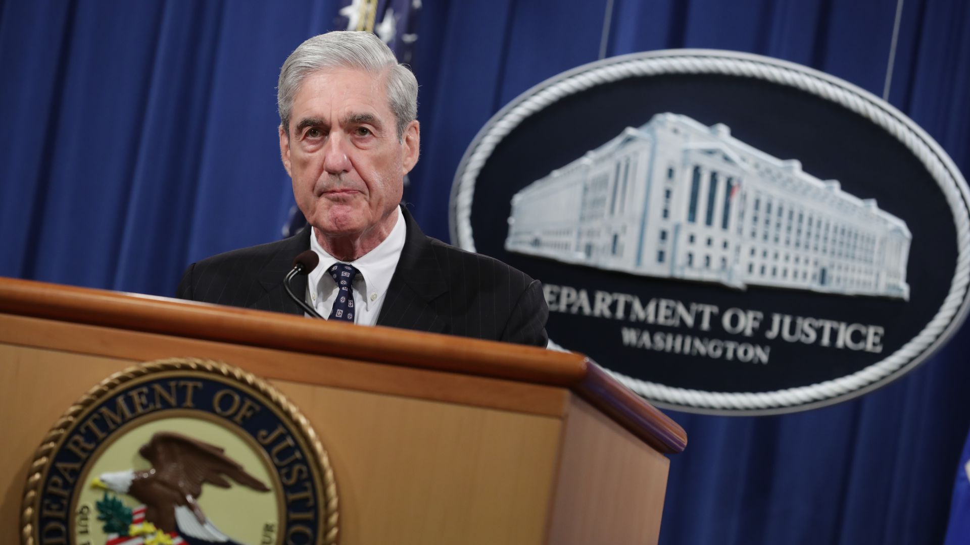: Special Counsel Robert Mueller makes a statement about the Russia investigation on May 29, 2019 at the Justice Department in Washington, DC.