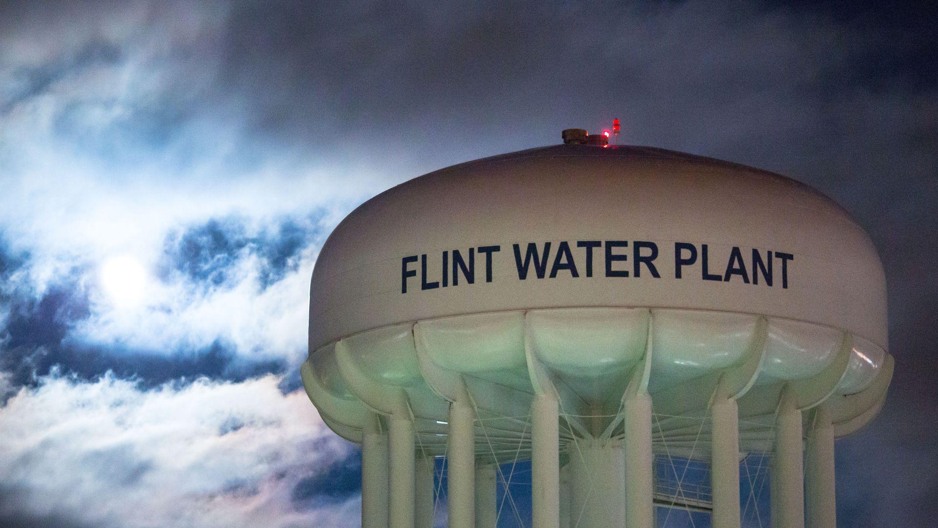 Water plant in Flint, Michigan