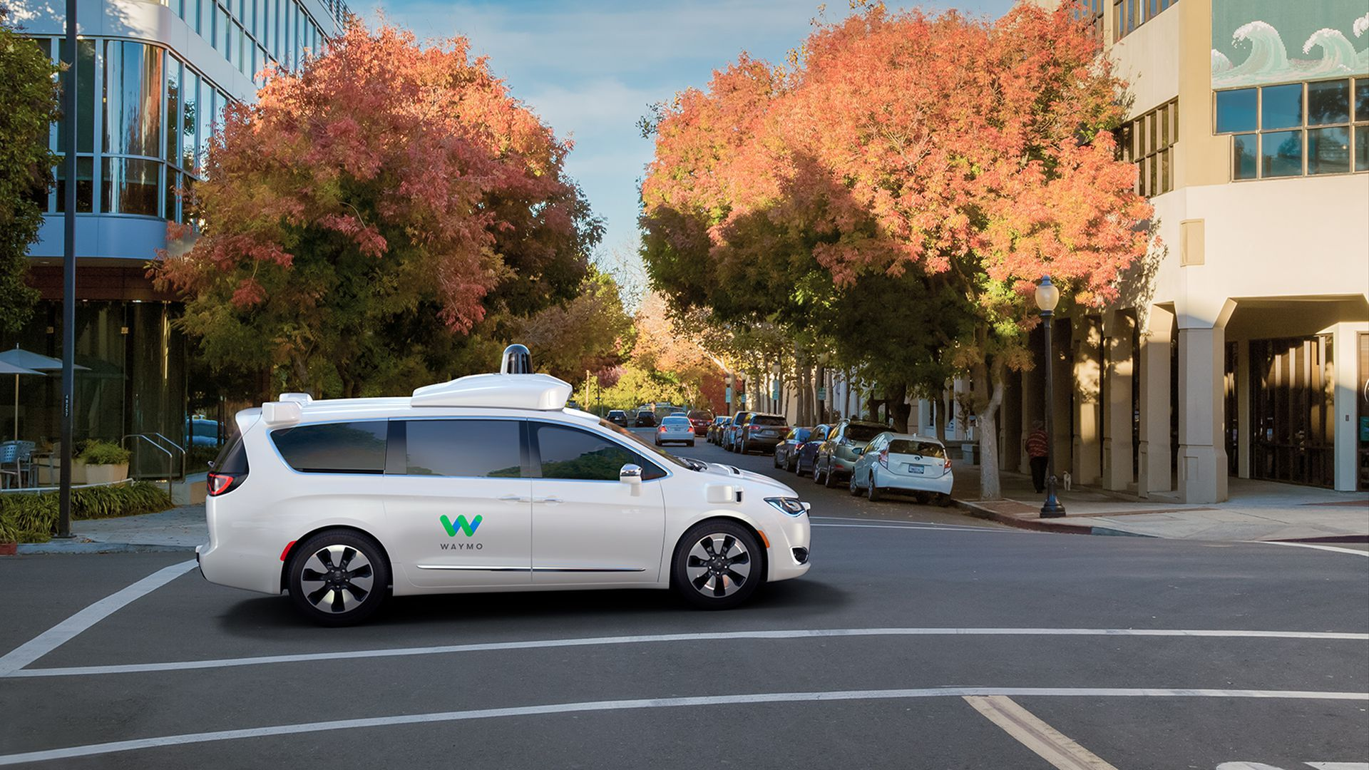 Photo of Waymo car on the street