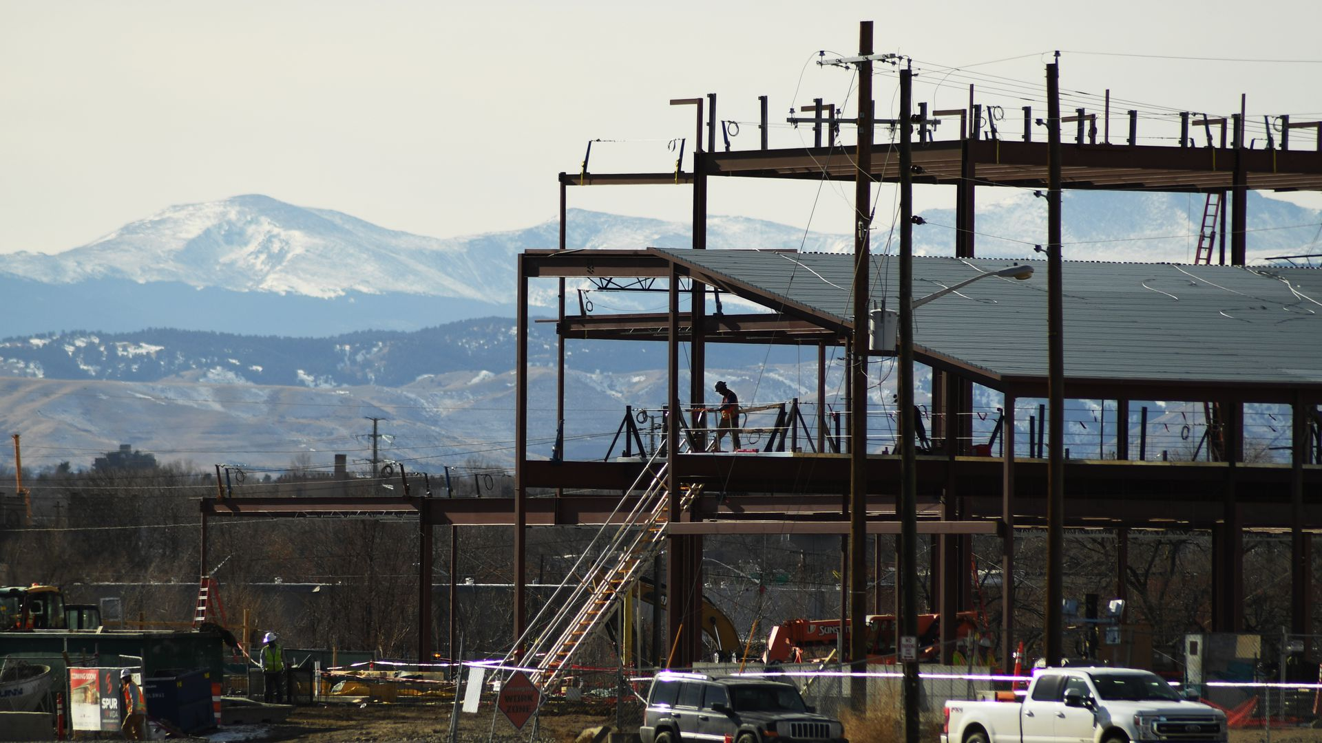 The construction at the National Western Center in 2021. Photo: Hyoung Chang/The Denver Post via Getty Images