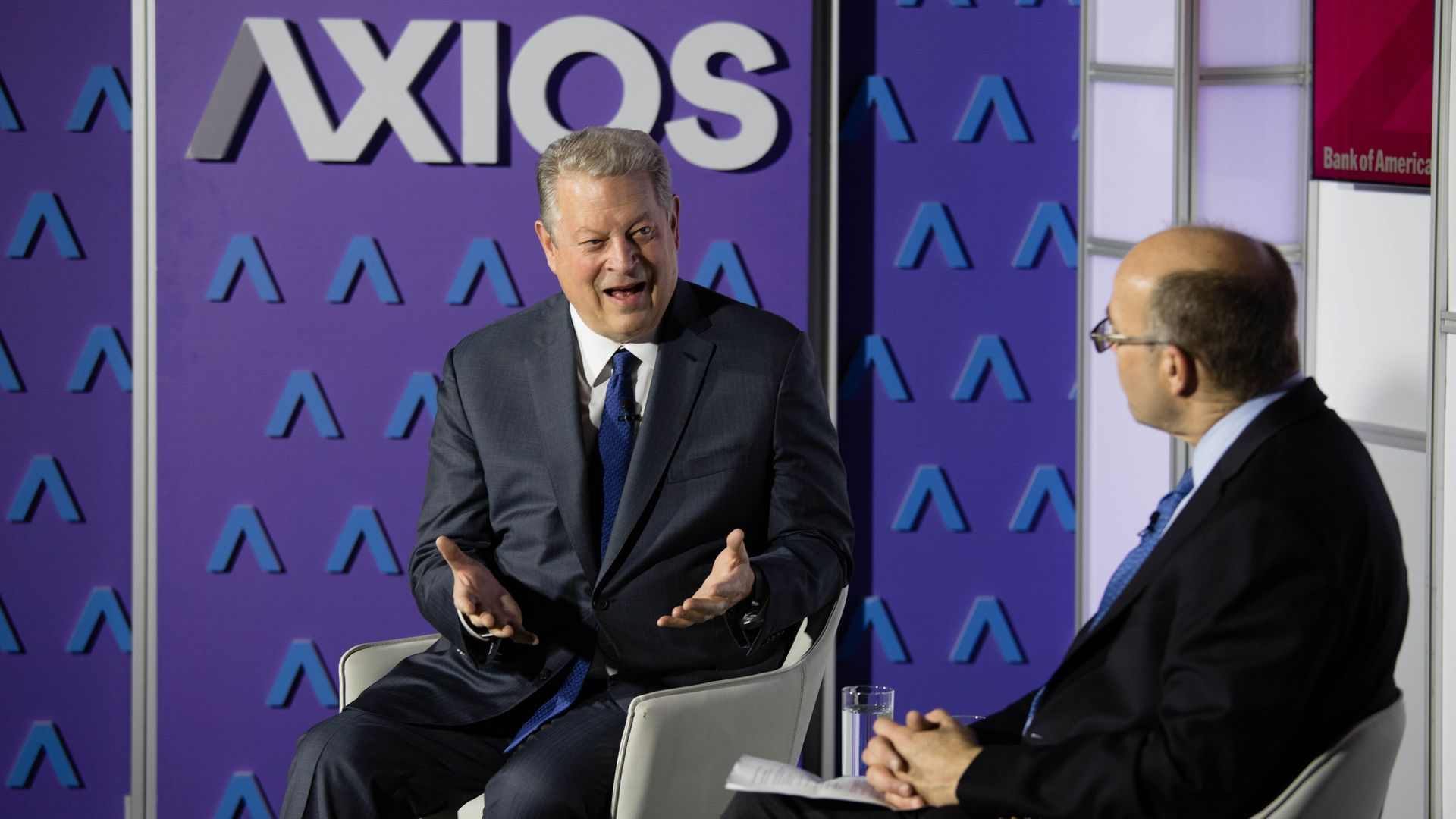 Al Gore speaks with Mike Allen