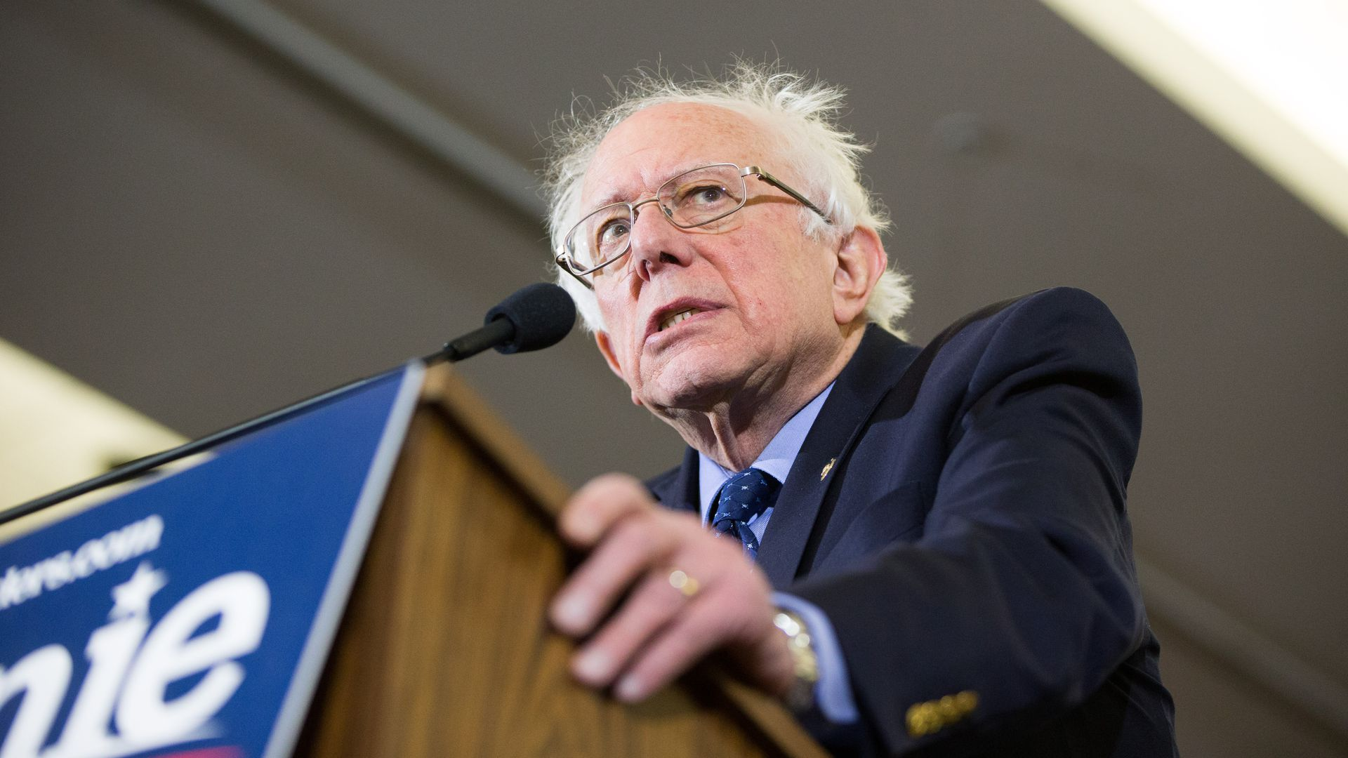 Democratic Presidential hopeful Bernie Sanders says the U.S. must take on the NRA.