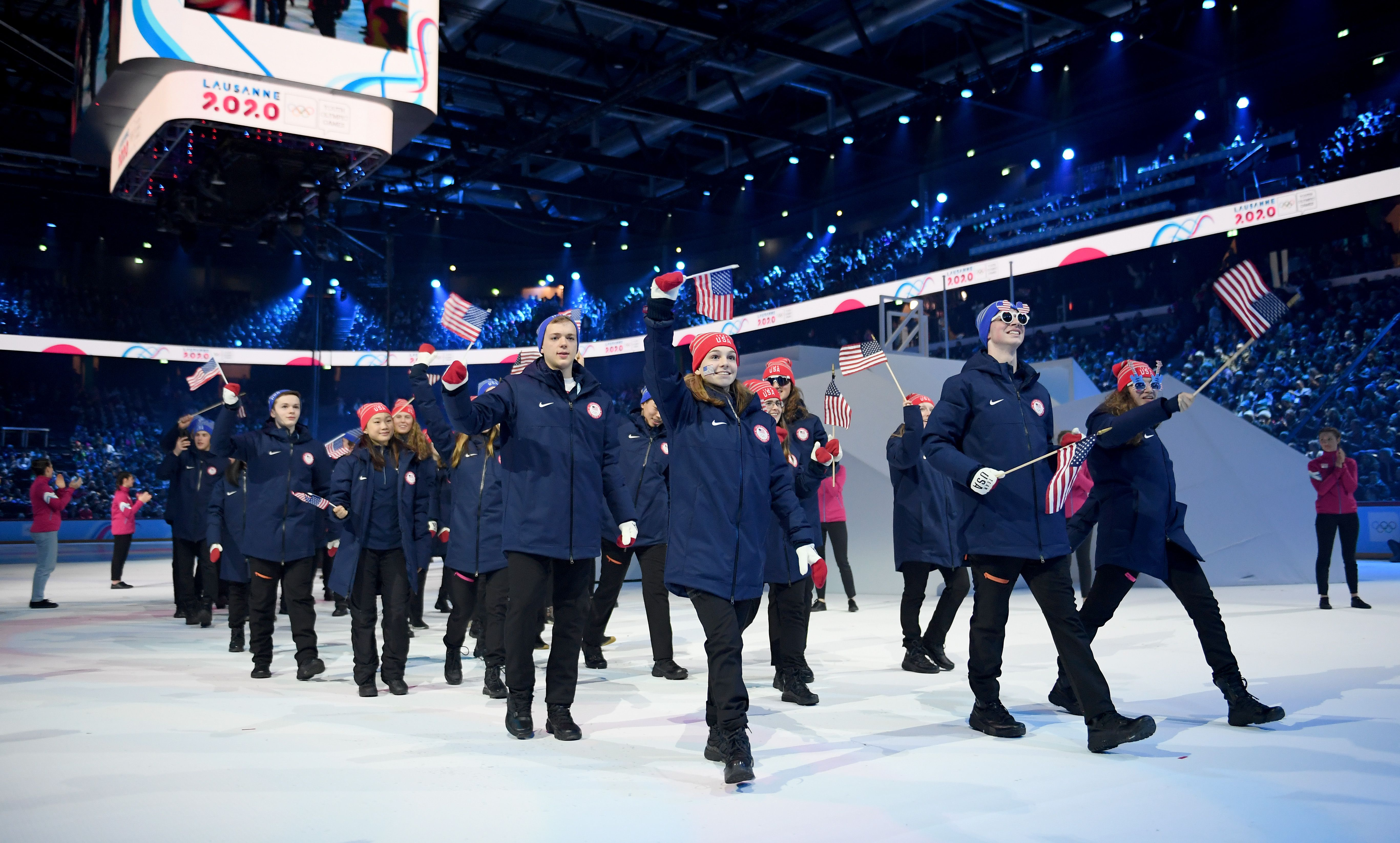 Team USA walking at the Opening Ceremony