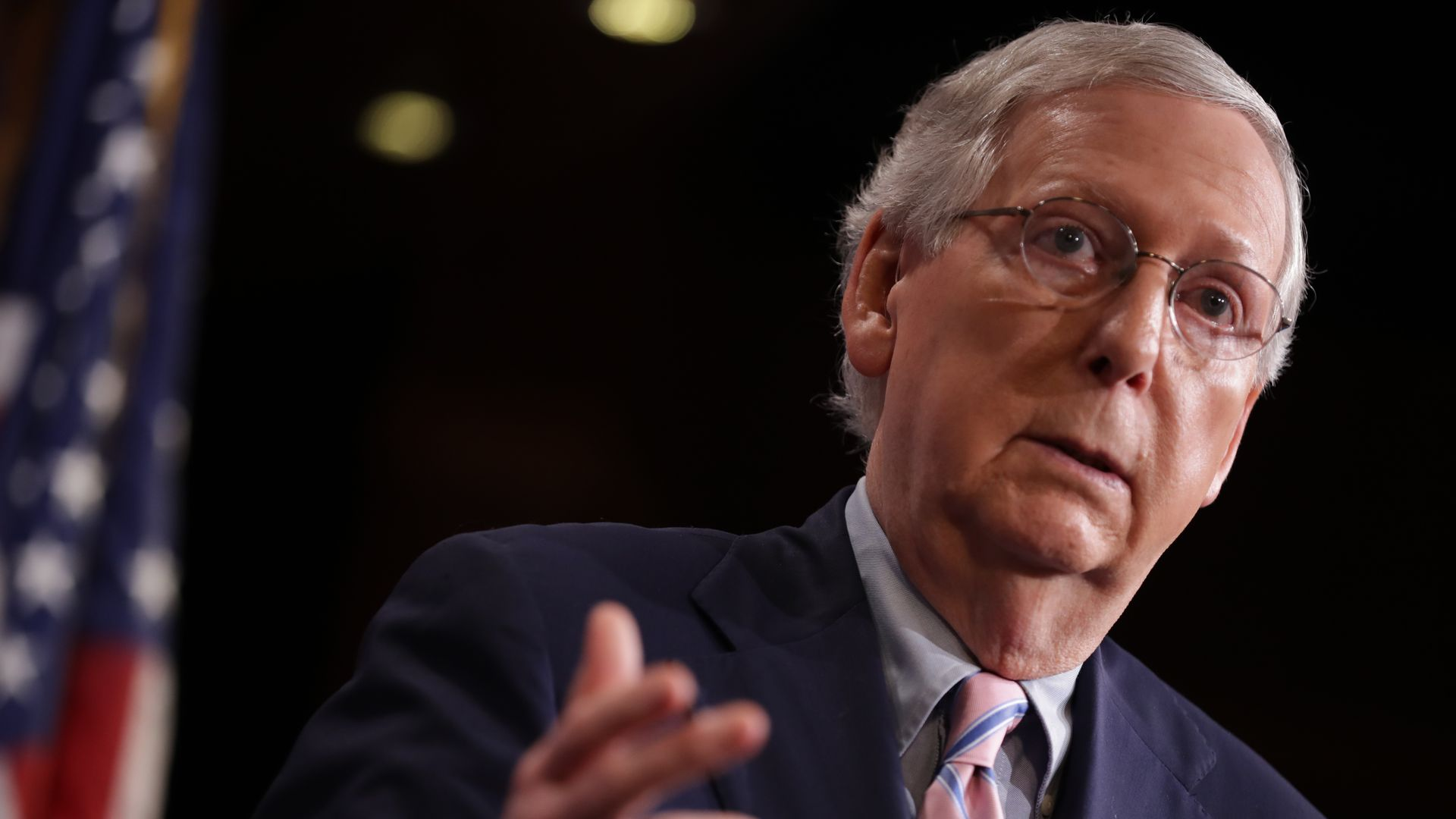 "McConnell confronted at restaurant, asked to ""leave the entire country"""