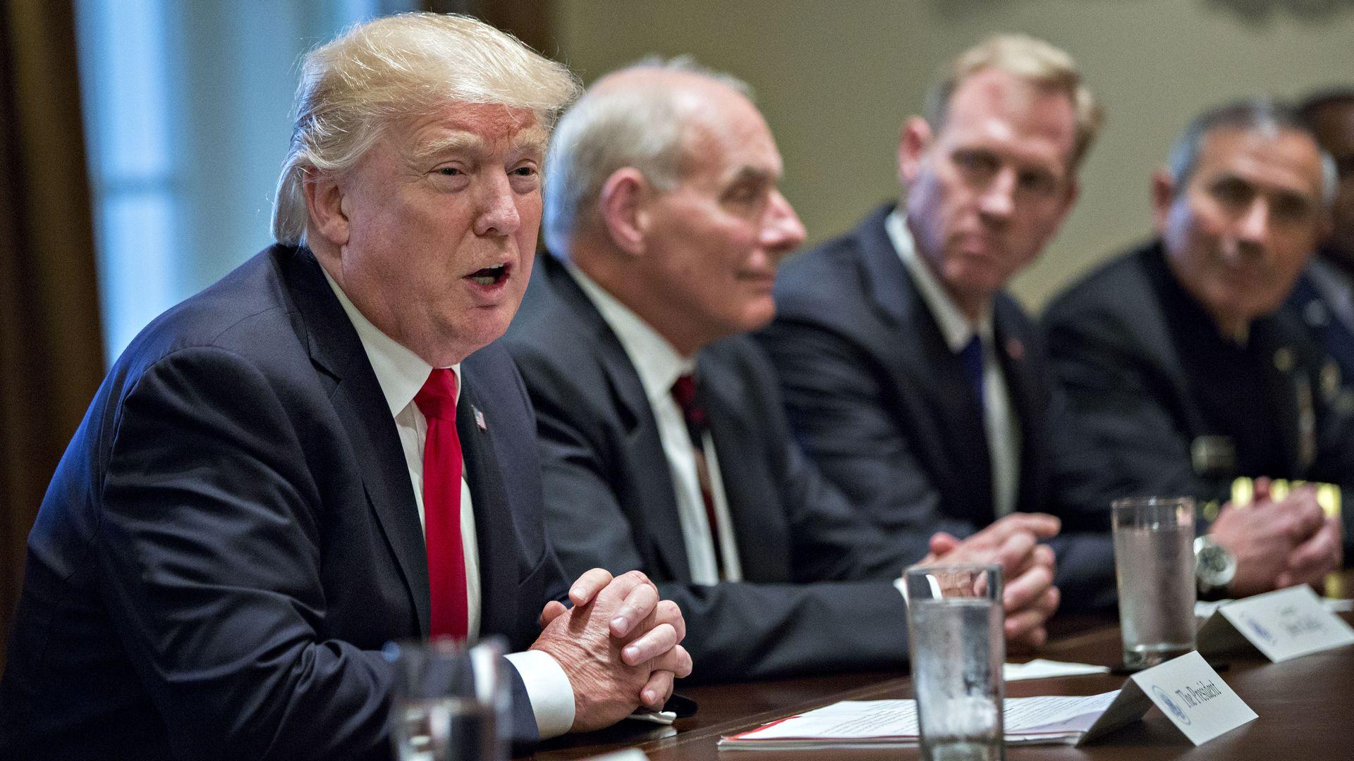 Donald Trump at a meeting