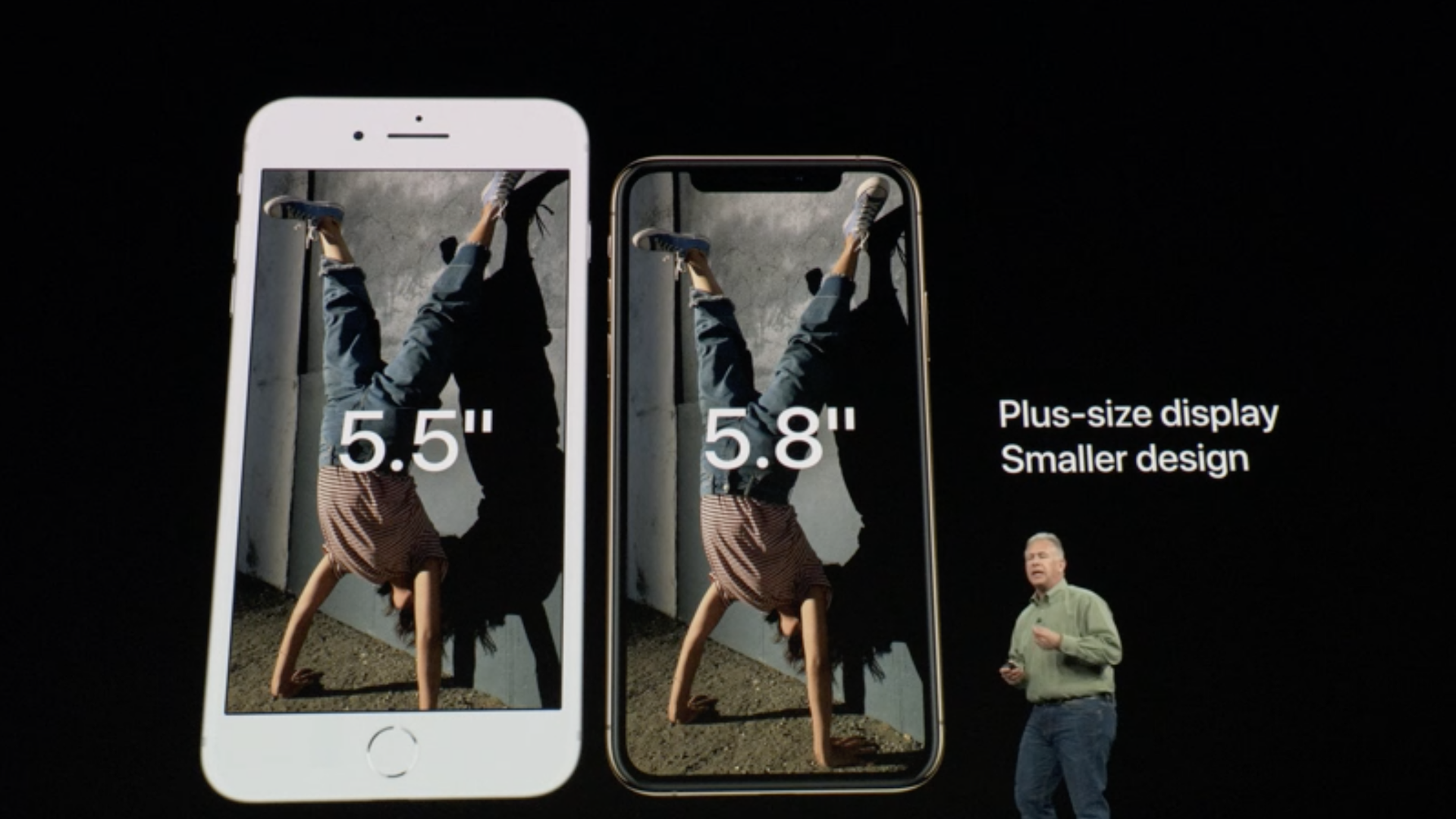 Apple presentation image of new iPhones