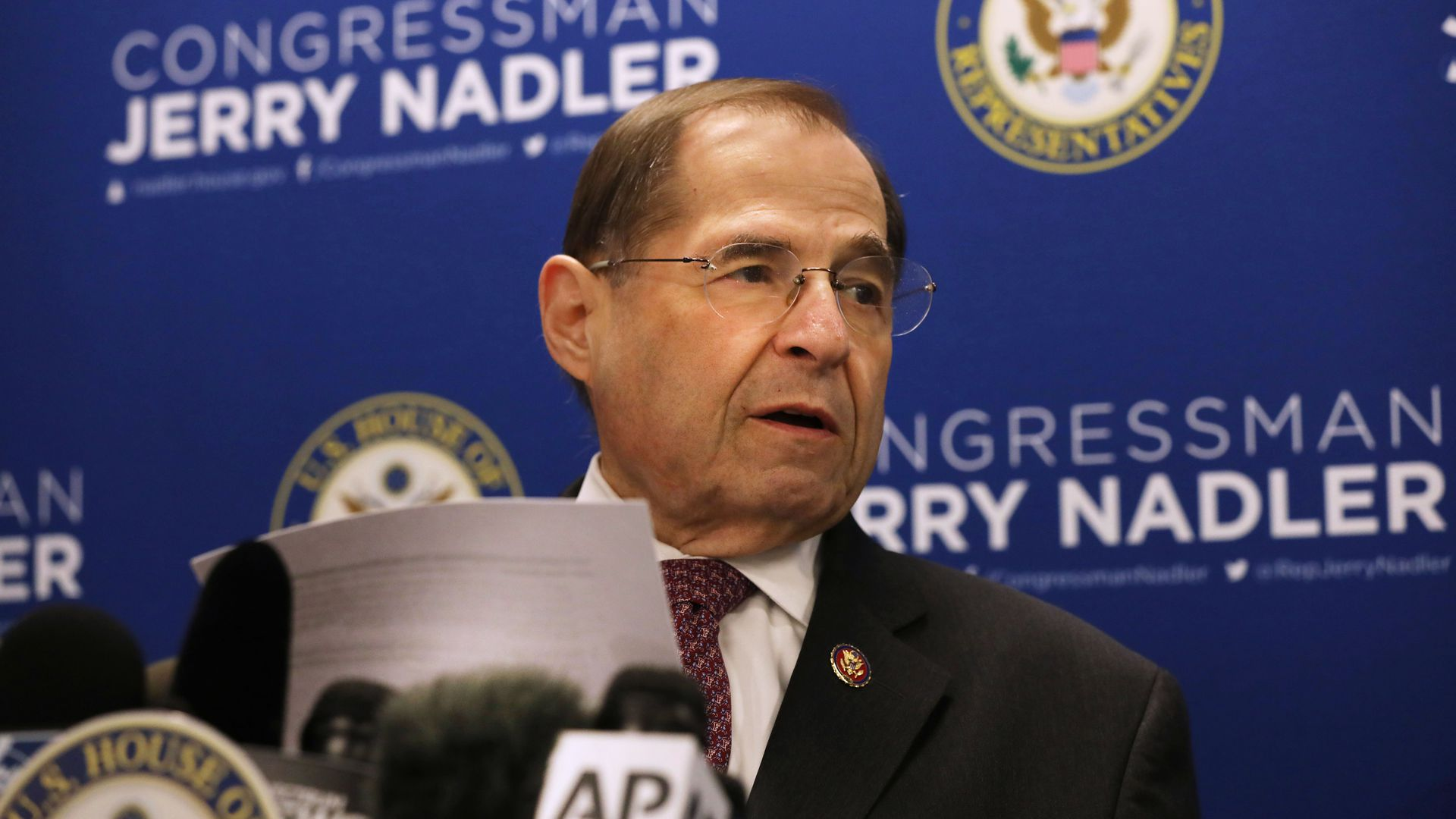 House Judiciary Committee Chairman Jerrold Nadler.