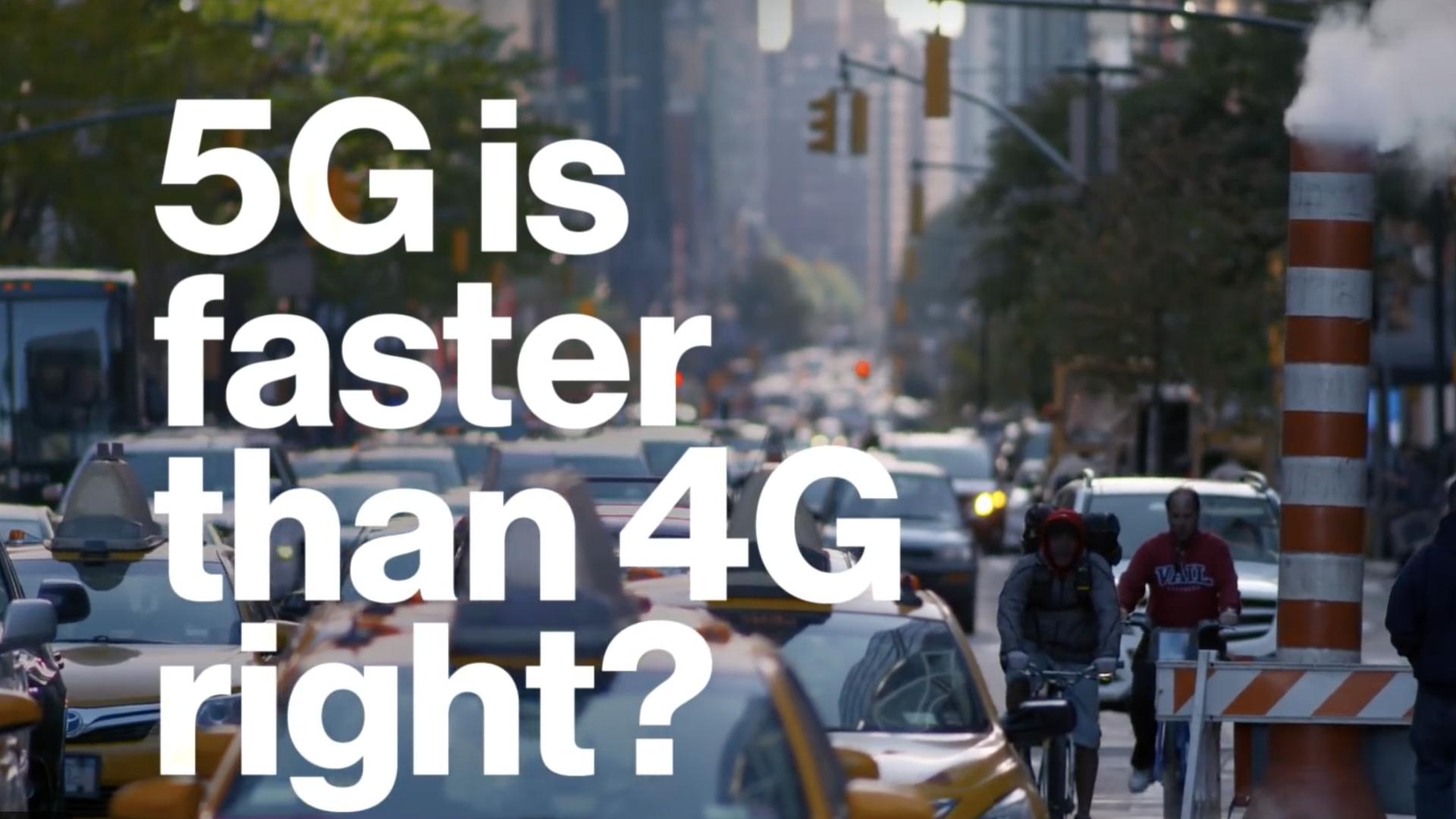 A screenshot from Verizon's Super Bowl ad
