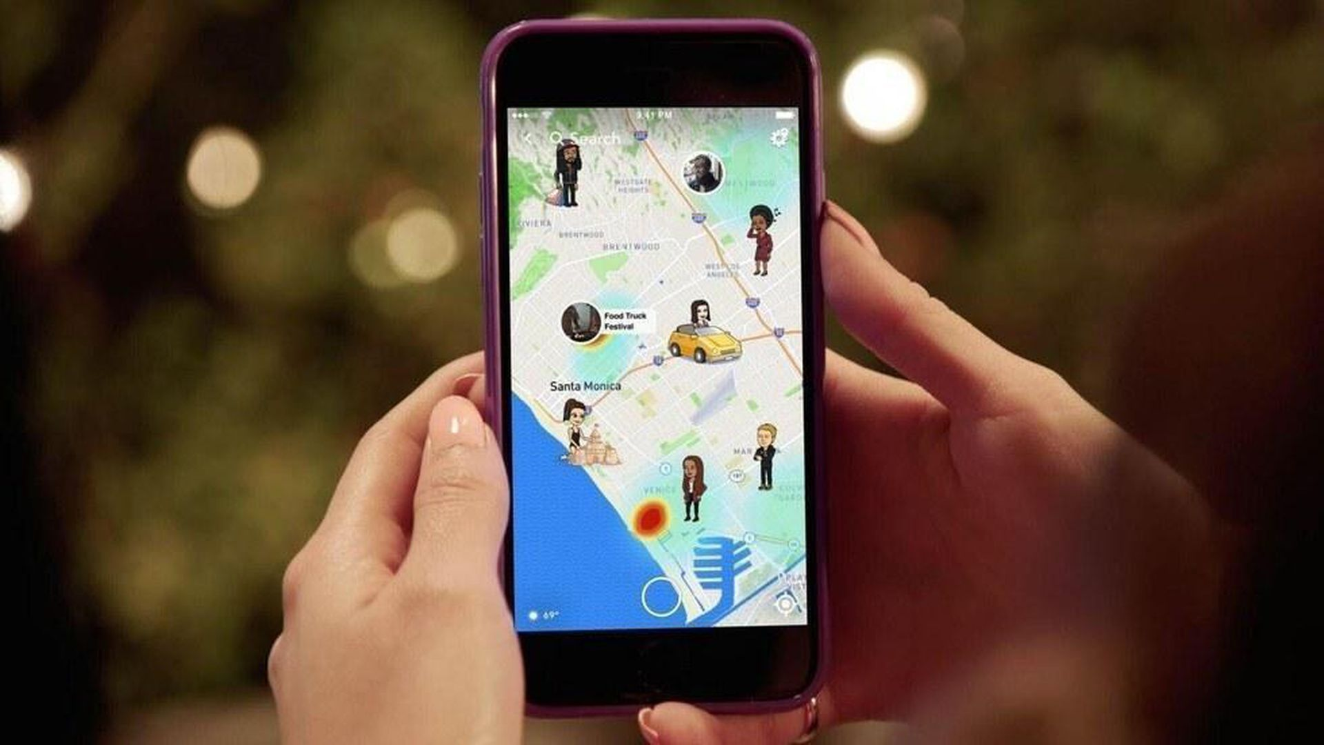 Mapbox-powered Snap Maps