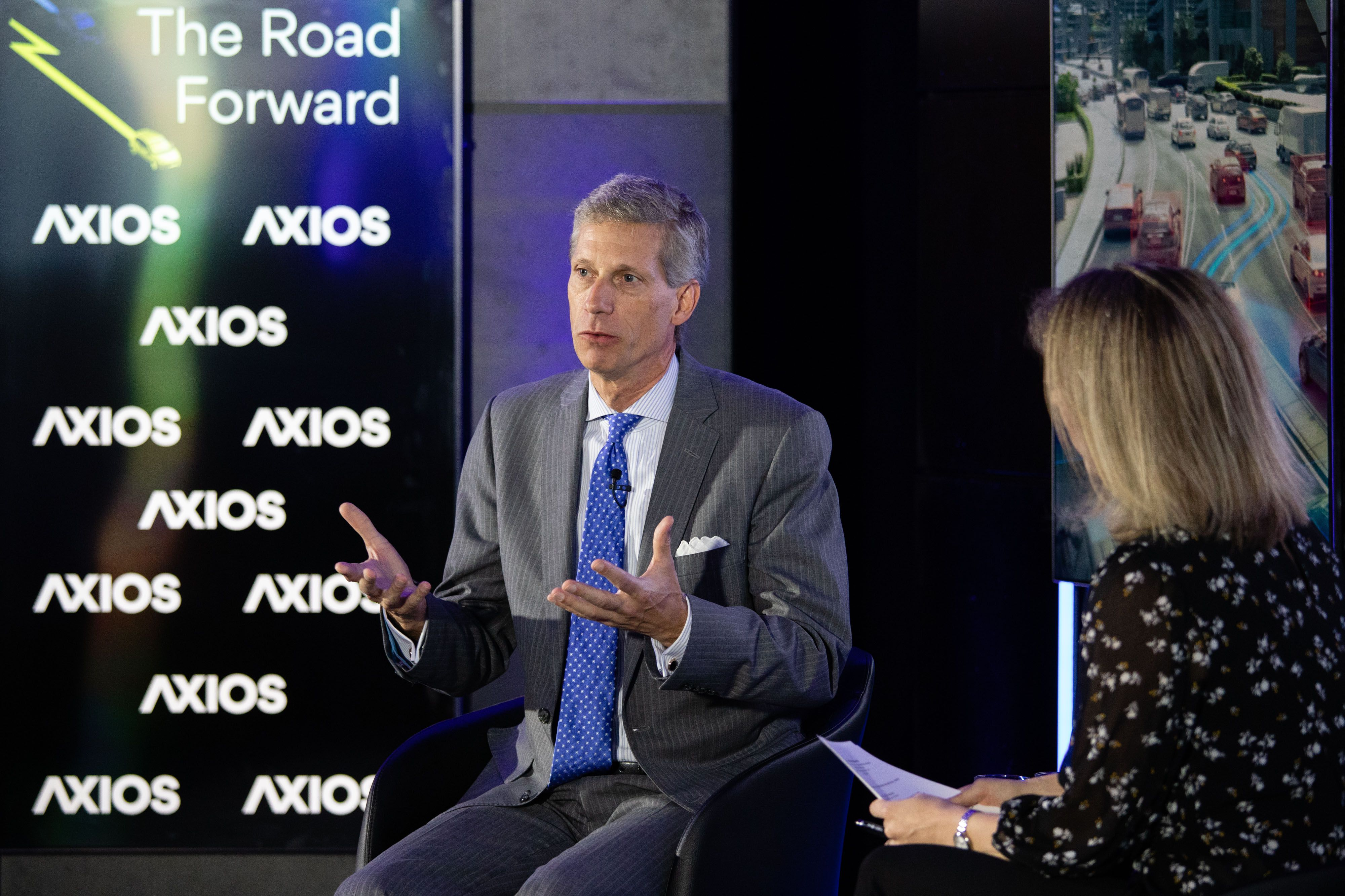 SAE International CEO David Schutt on the Axios stage