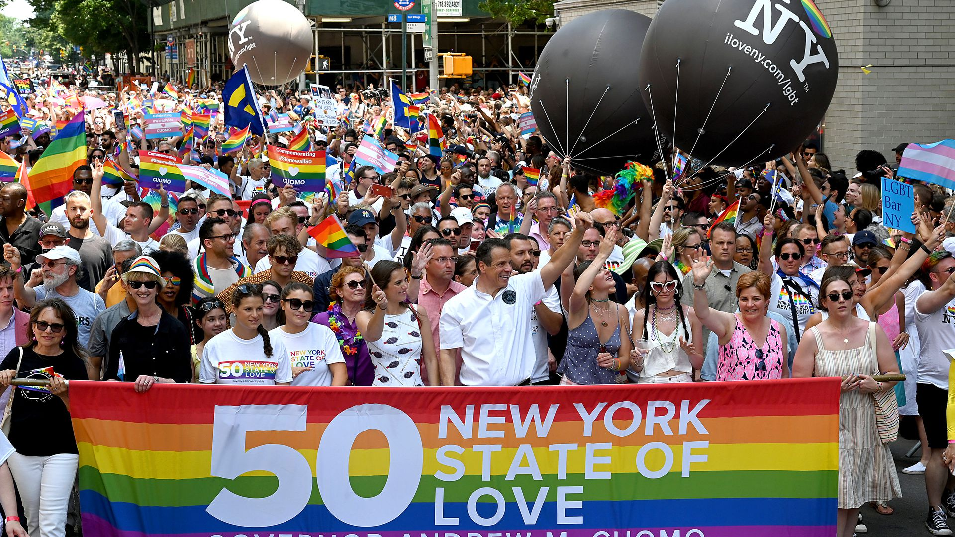 New York Governor Andrew Cuomo attends Pride March - WorldPride NYC 2019 on June 30.
