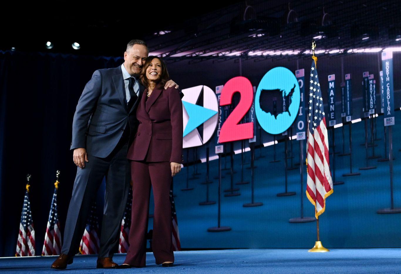 "Harris' husband Doug Emhoff calls for ""more than a win"""