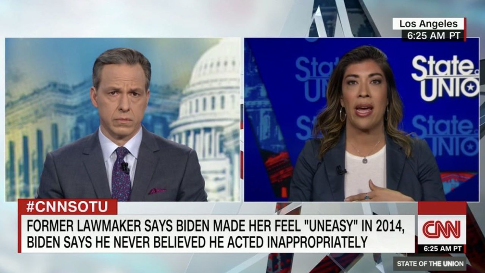 Lucy Flores speaks to Jake Tapper on CNN yesterday.