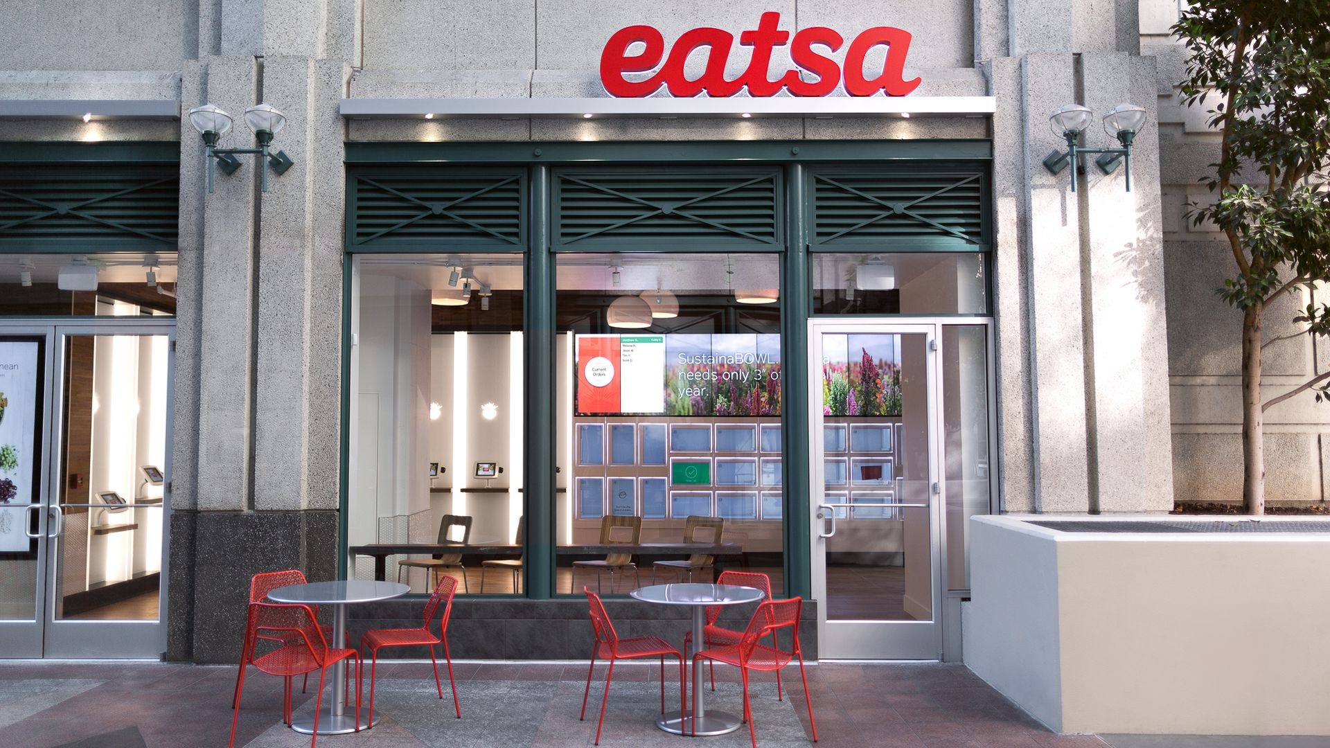The exterior of an Eatsa restaurant