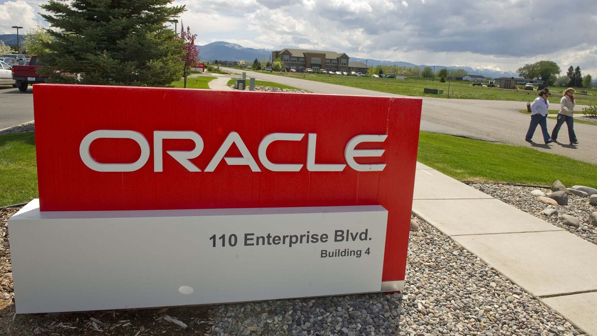 Photo of sign in front of Oracle office in Montana.