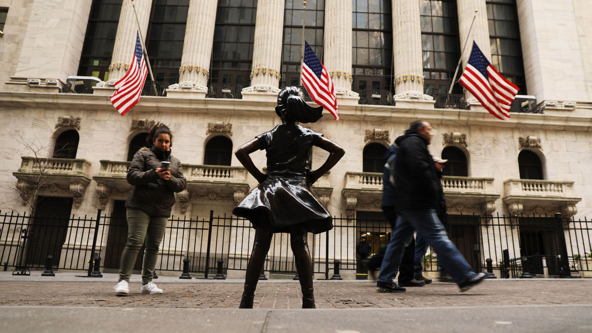 Fearless Girl statue outside the New York Stock Exchange