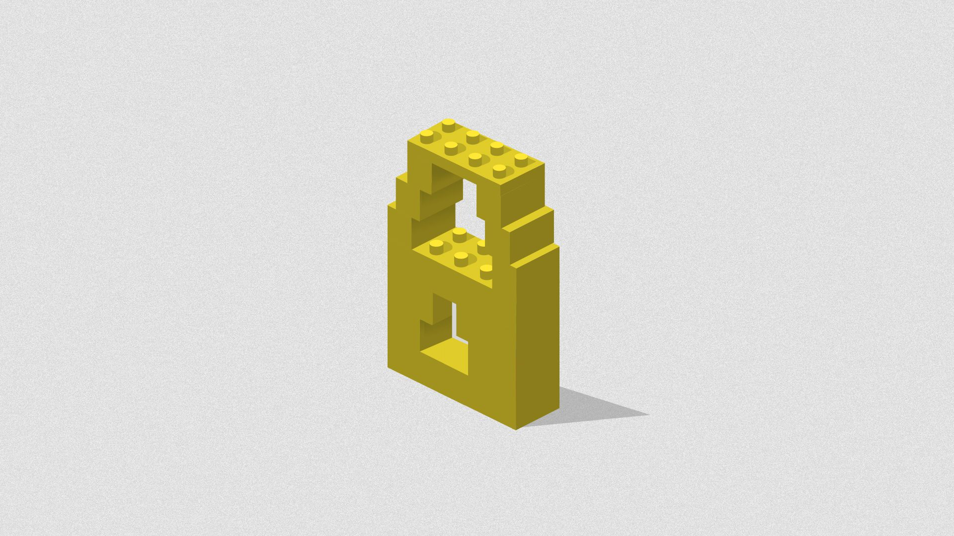 Illustration of a security lock made out of legos.
