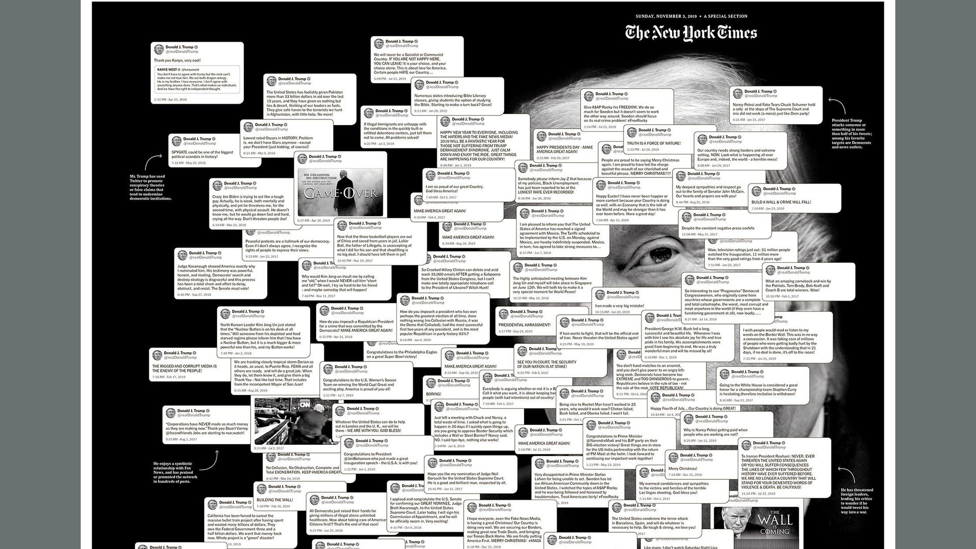 NYT graphic of Trump's tweets