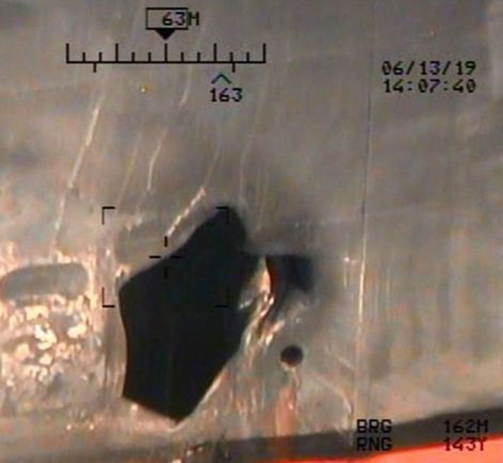 Pentagon releases new photos alleging Iranian forces responsible for oil tanker attacks