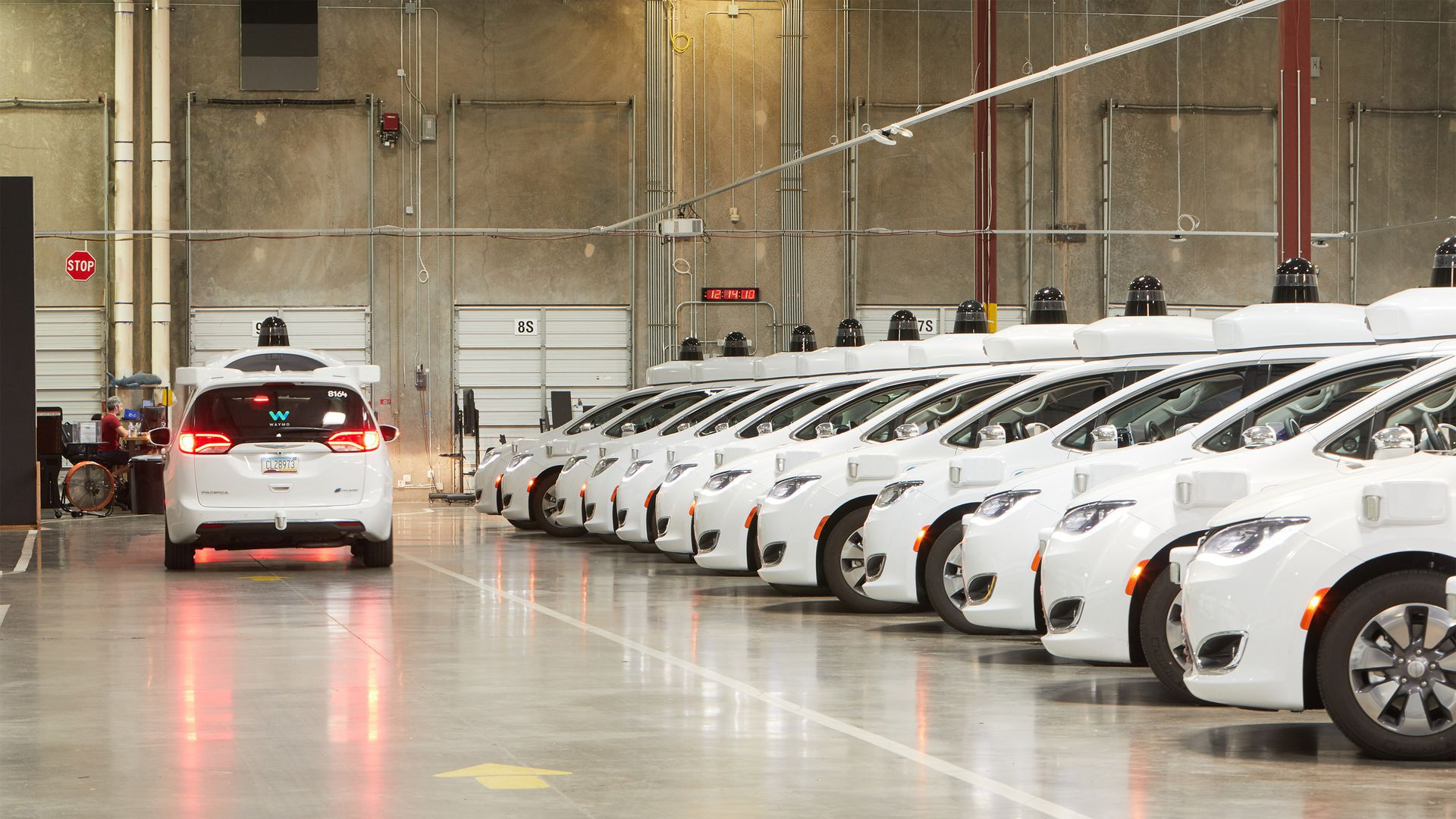 Waymo cars in factory