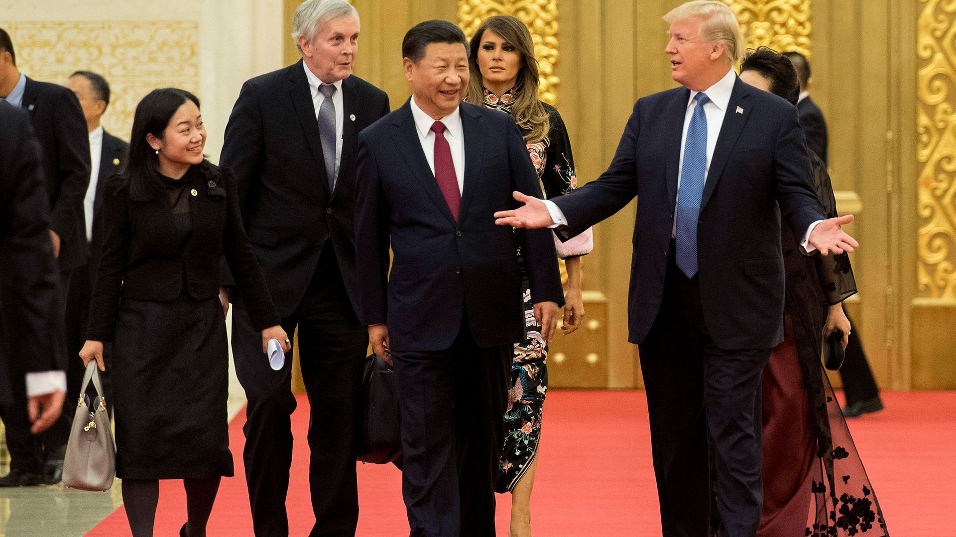 Presidents Donald Trump and Xi Jinping.