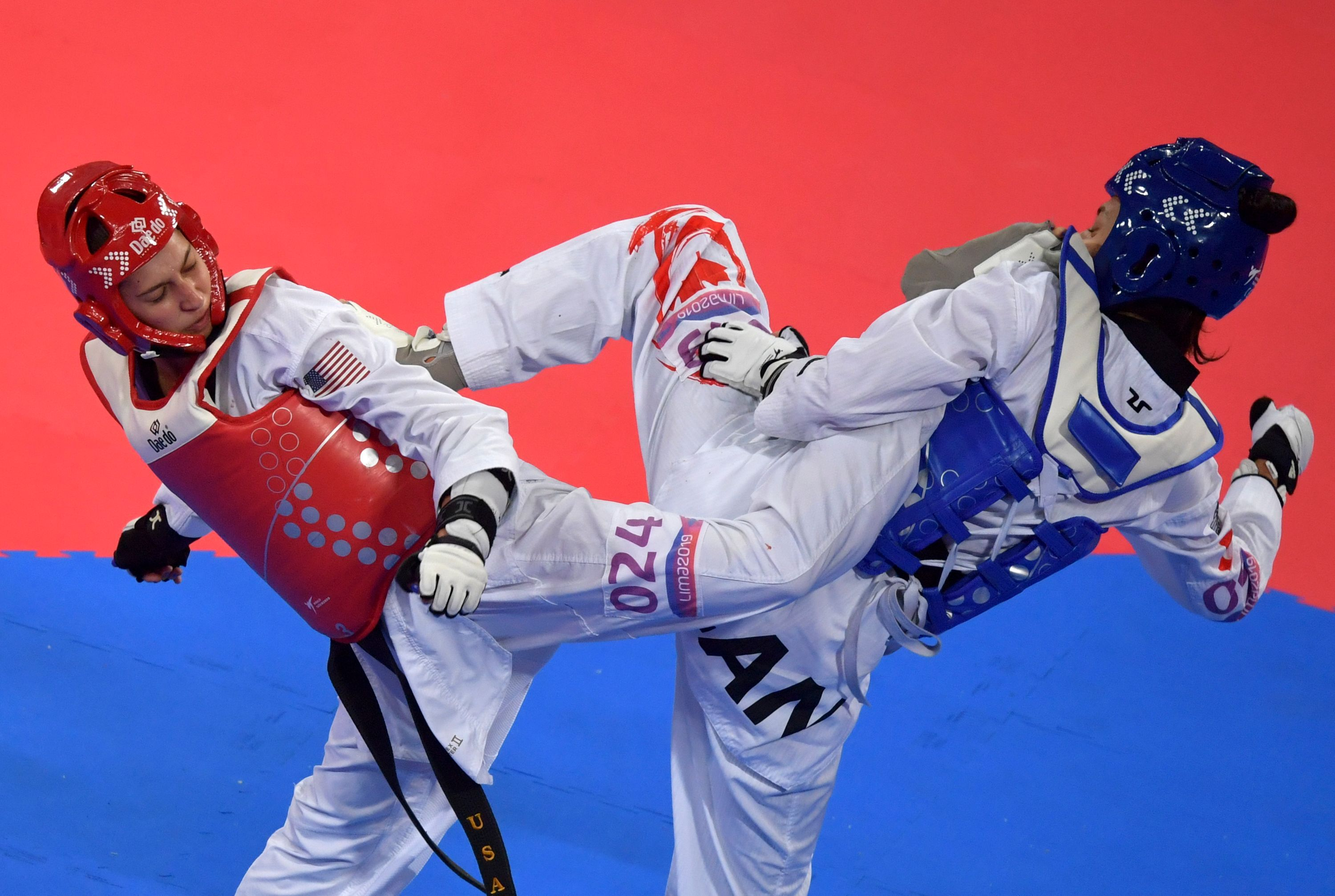 Anastasija Zolotic, left, competes in the Pan-American Games in 2019. Photo: Luis Acosta/AFP via Getty Images