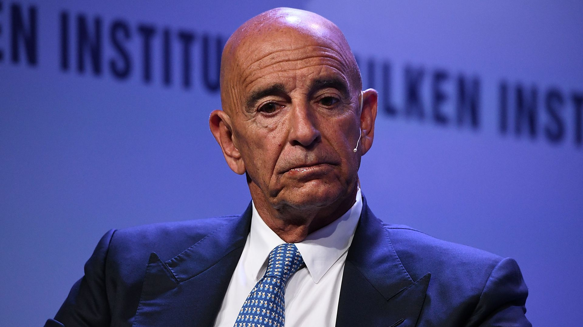 Thomas Barrack, Executive Chairman and CEO, Colony Capital, participates in a panel discussion during the annual Milken Institute Global Conference
