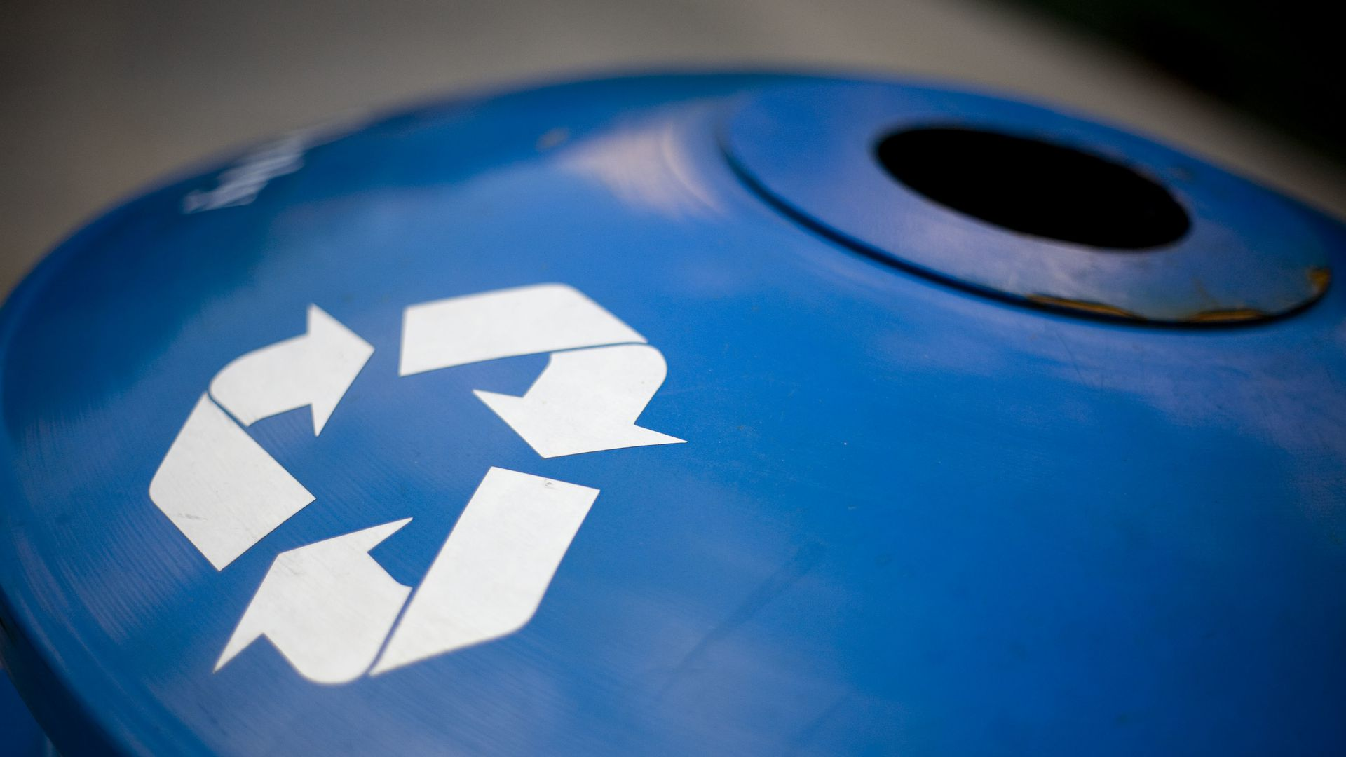 Image of recycling logo.