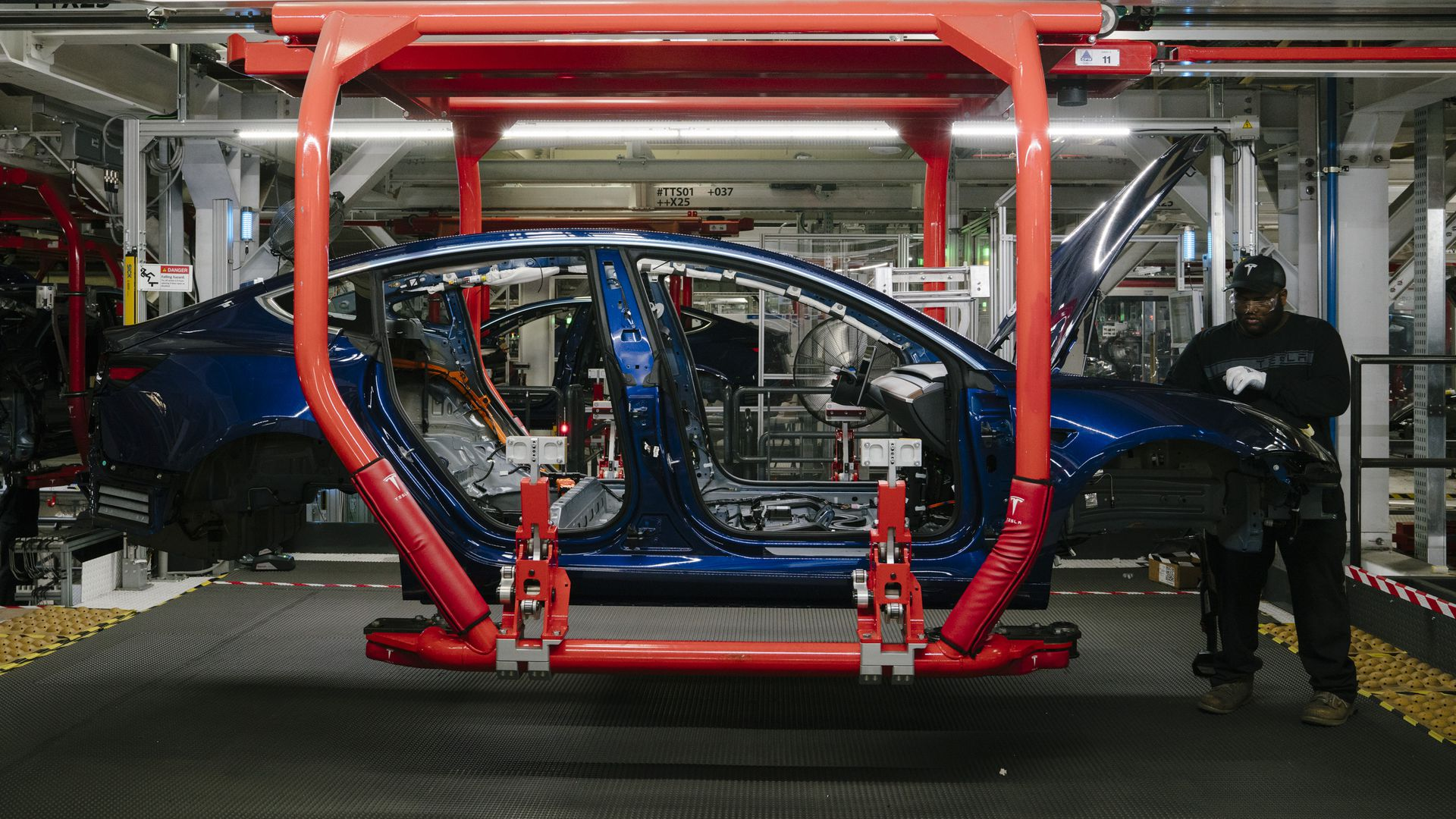 Tesla factory in california